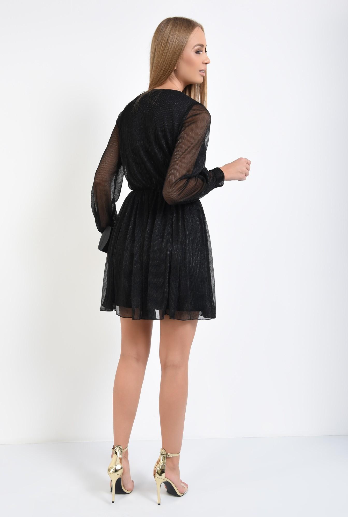 1 - 360 - rochie eleganta, mini, anchior petrecut, negru