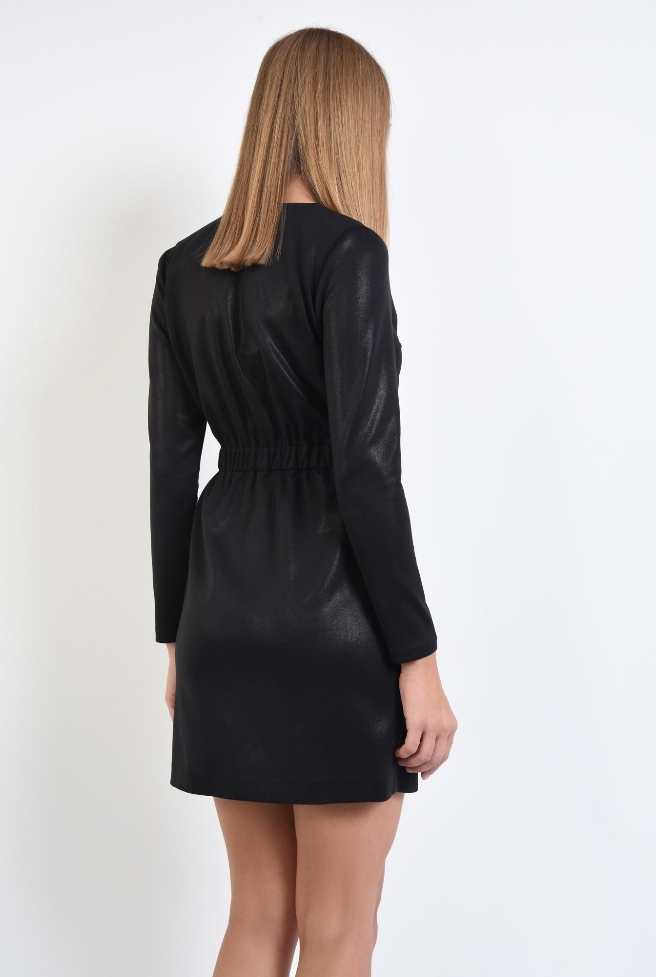 1 - rochie neagra, maneci lungi, scuba, anchior petrecut