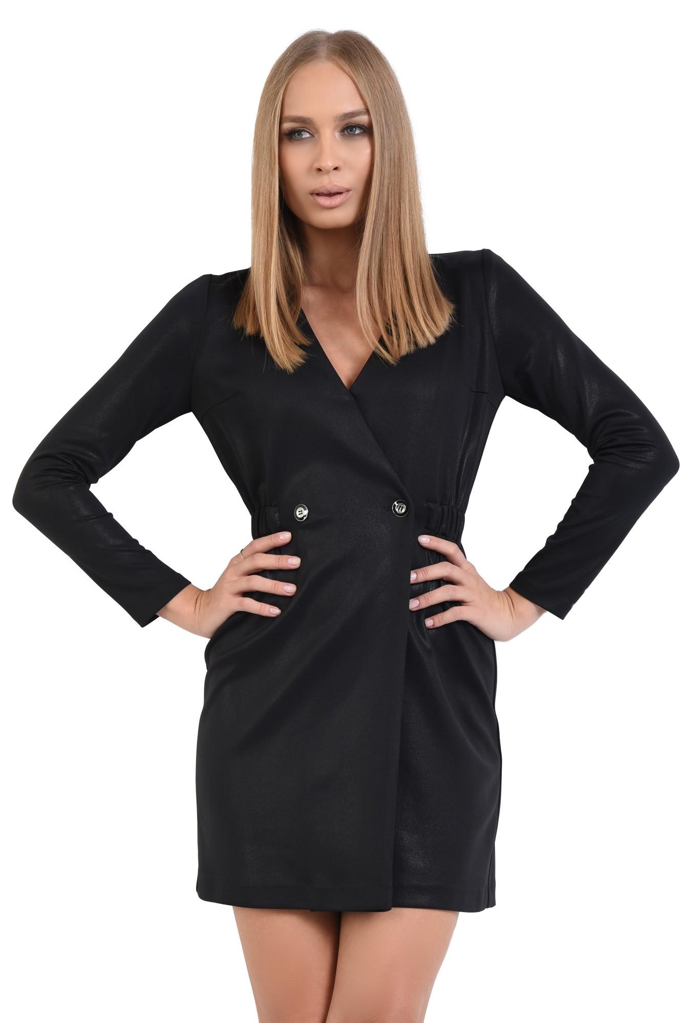 2 - rochie neagra, maneci lungi, scuba, anchior petrecut