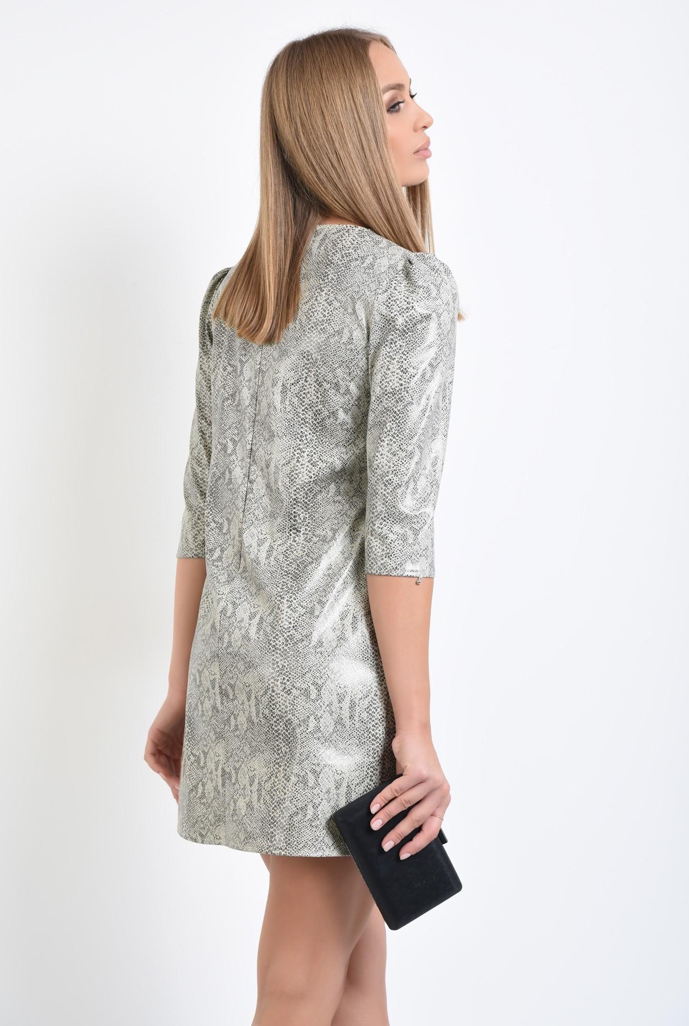 1 - rochie casual, piele eco, snakeskin, rochii online
