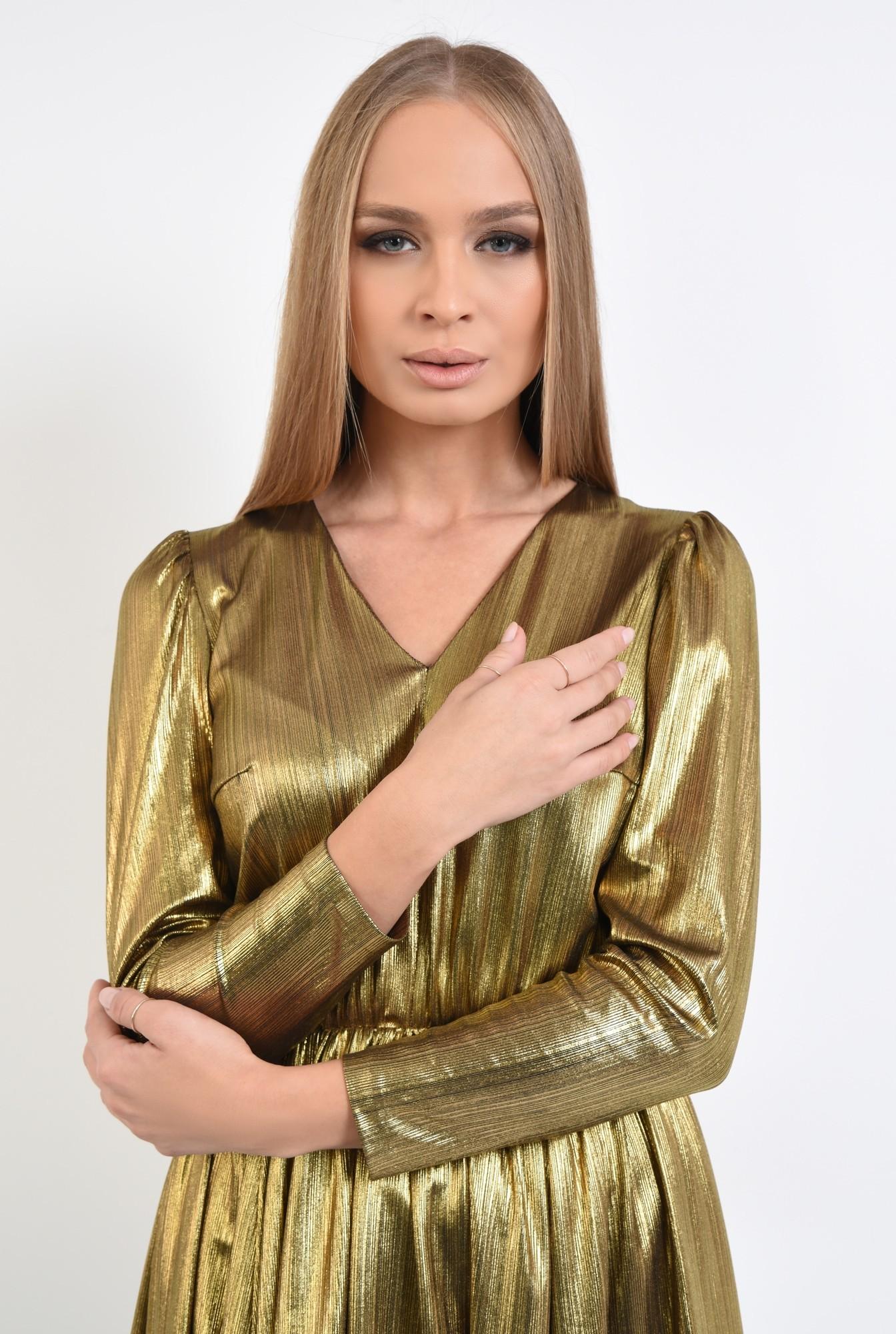 2 - rochie eleganta, din lurex, anchior, clos
