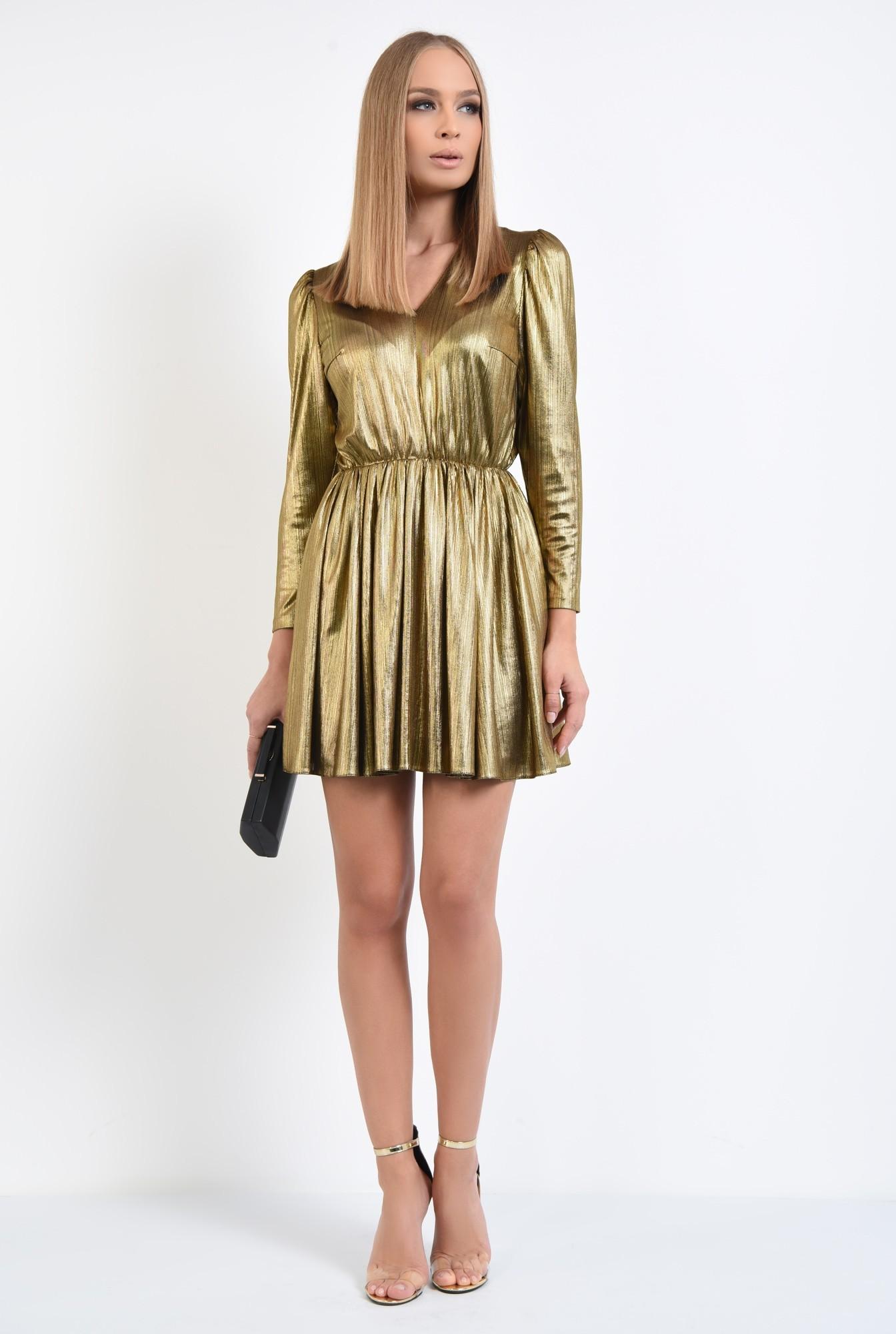 3 - rochie eleganta, din lurex, anchior, clos