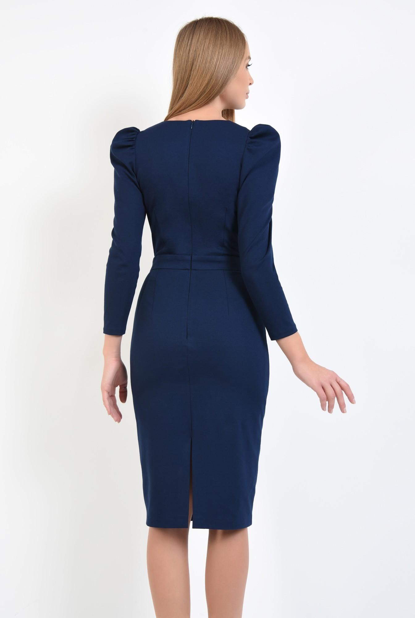 1 - 360 - rochie conica, decolteu in V, cret la umar, rochii online