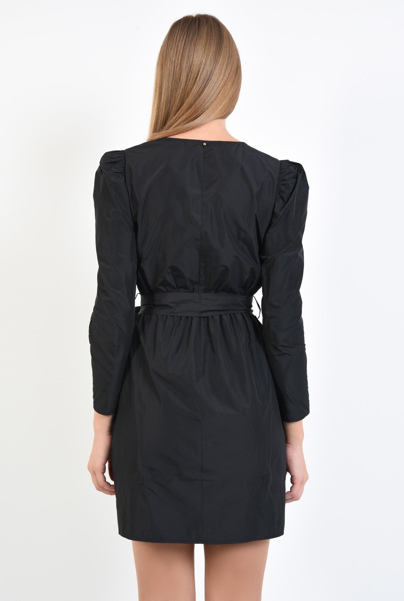 1 - 360 - rochie casual, scurta, petrecuta, neagra, cu cordon