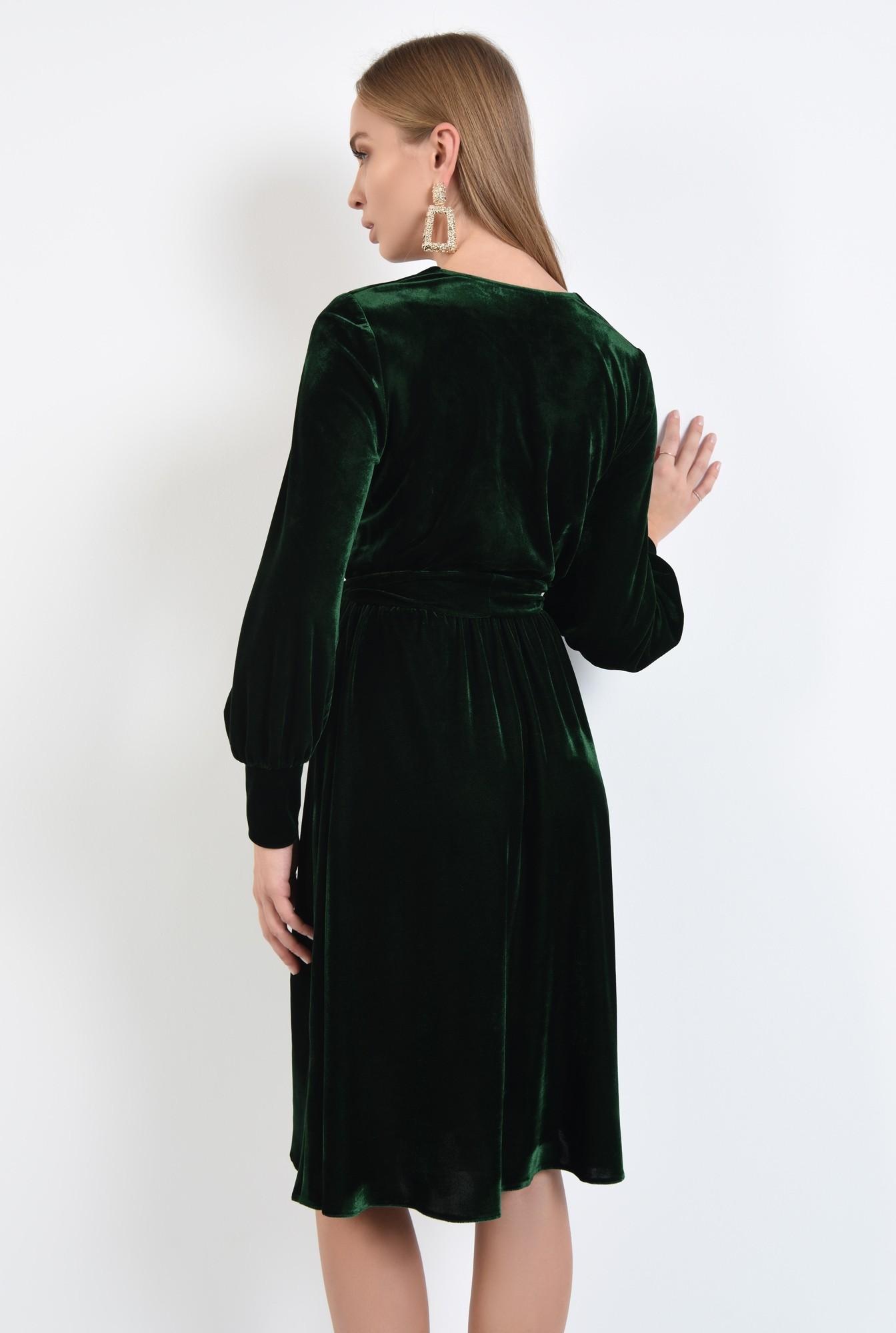 1 - rochie midi, funda la talie, rochii online. croi evazat, maneci lungi cu mansete