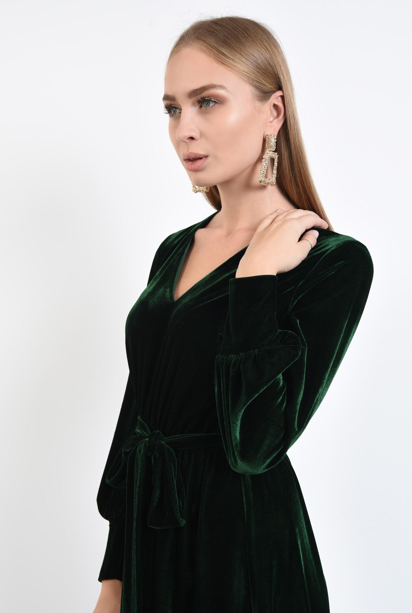 2 - rochie midi, funda la talie, rochii online. croi evazat, maneci lungi cu mansete
