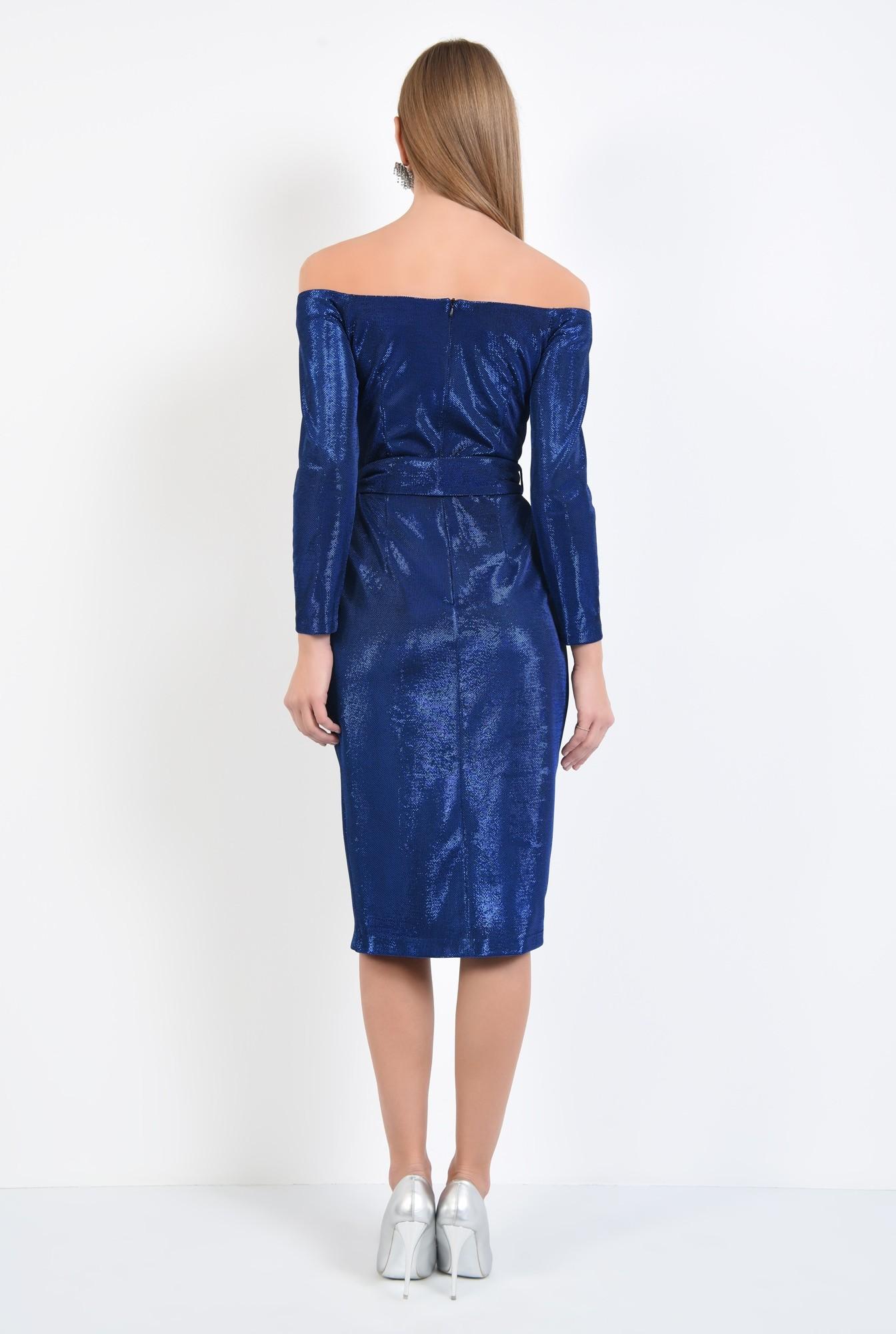 1 - rochie eleganta, midi, conica, cu cordon, rochii online