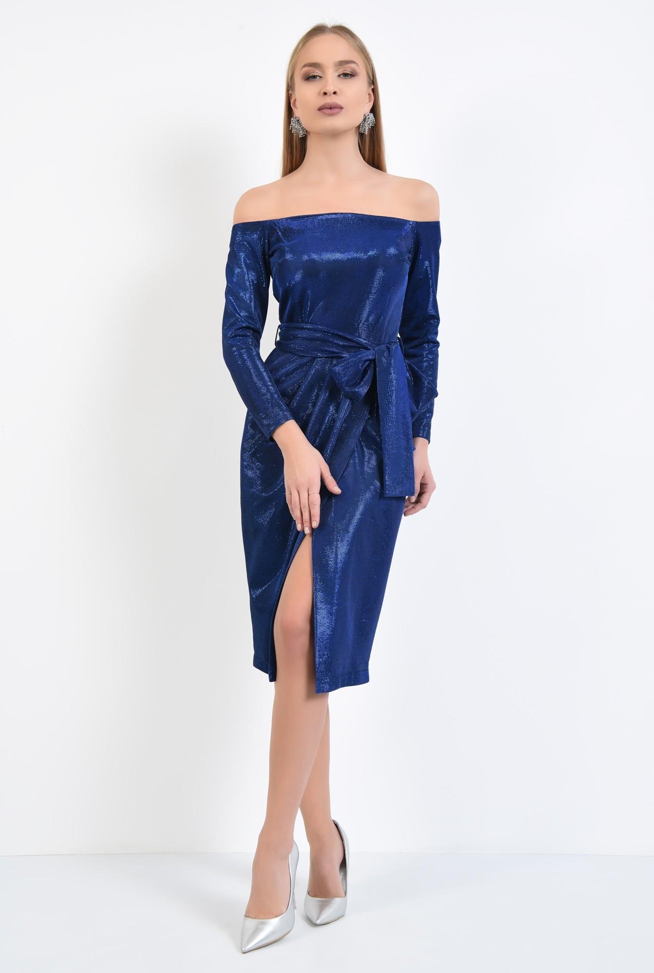 3 - rochie eleganta, midi, conica, cu cordon, rochii online