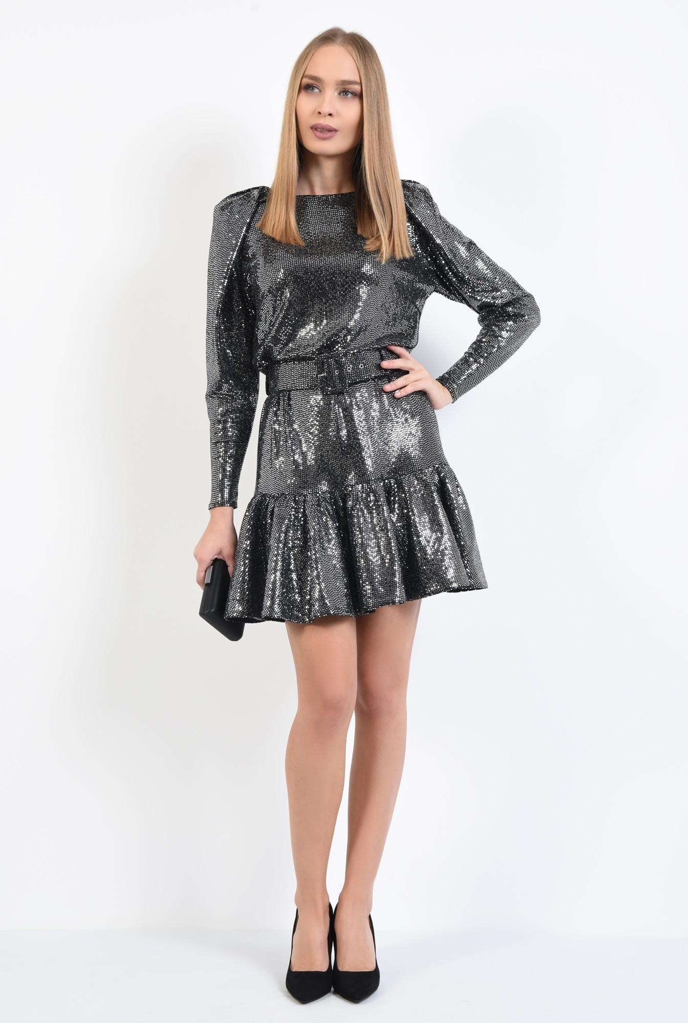 3 - rochie de ocazie, rochii online, scurta, usor evazata, maneci cu umar bufant