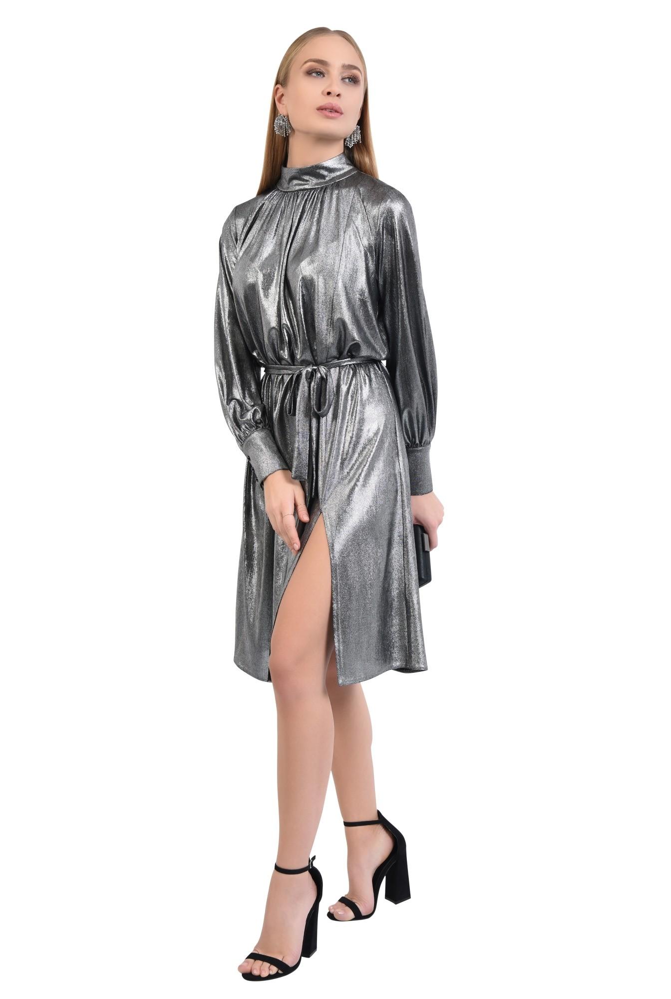 3 - 360 - rochie eleganta, midi, croi larg, maneci bufante cu manseta