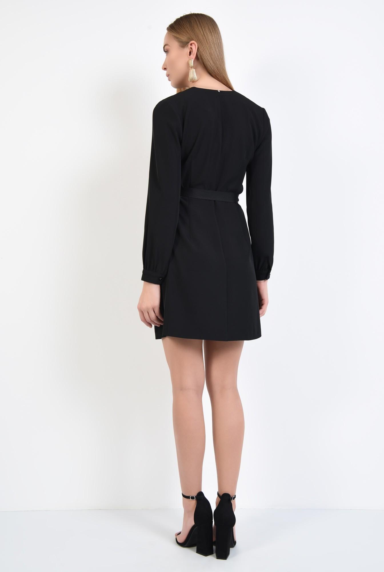 1 - rochie neagra, casual, mini, croi parte peste parte