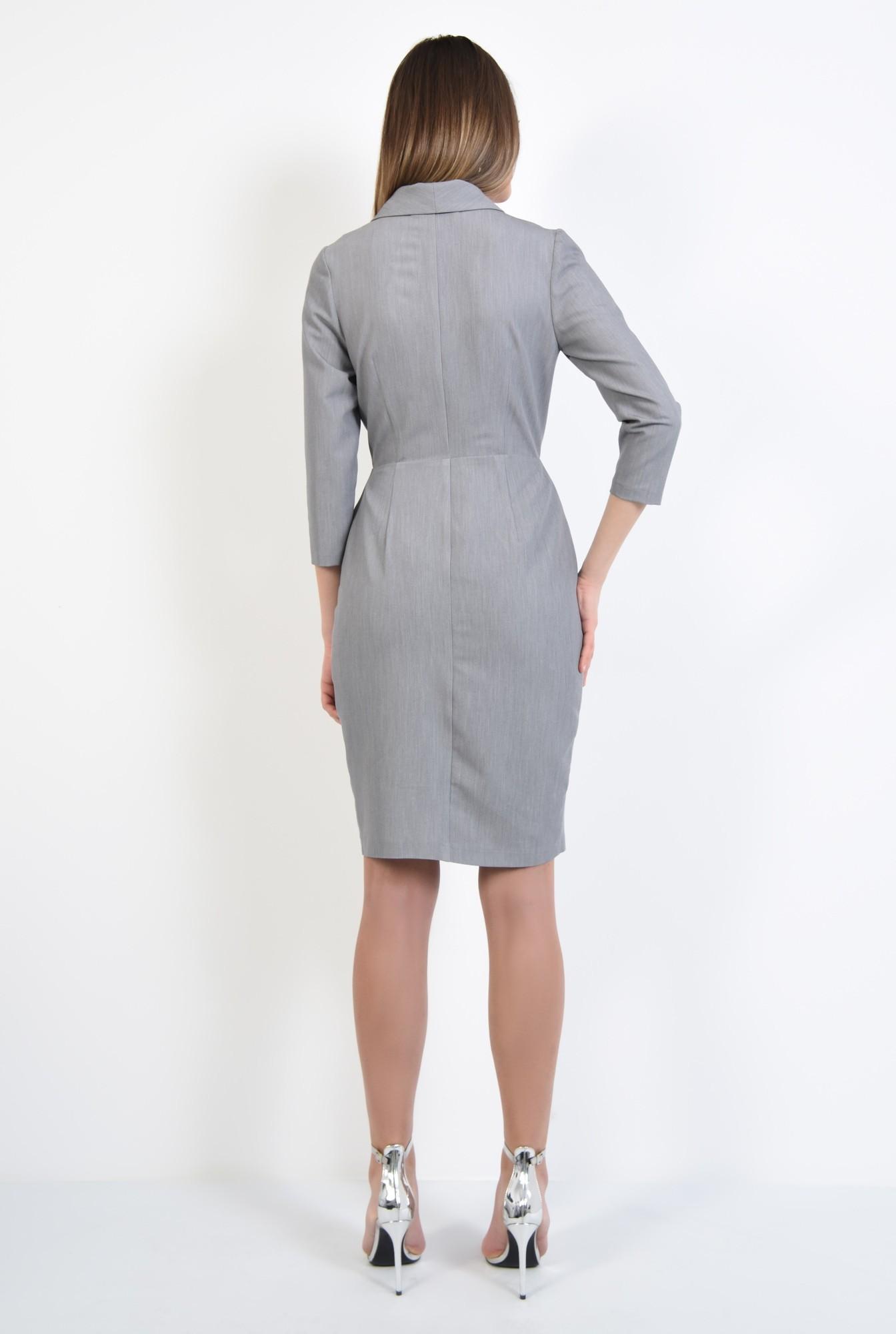 1 - 360 - rochie midi, casual, conica, doua randuri de nasturi
