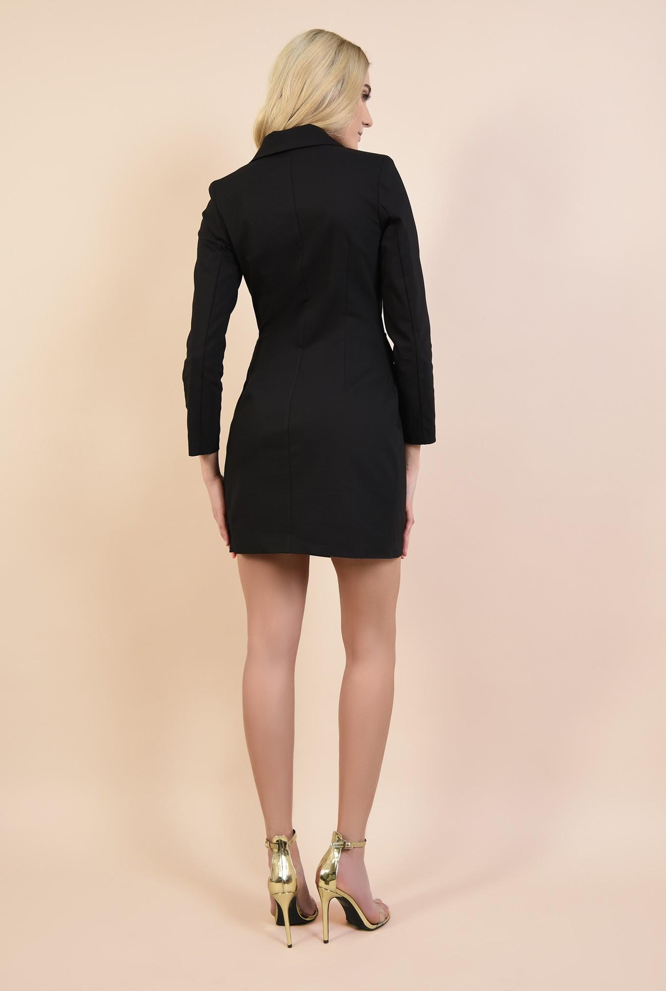 1 - rochie sacou, neagra, scurta, cambrata, rochie de ocazie