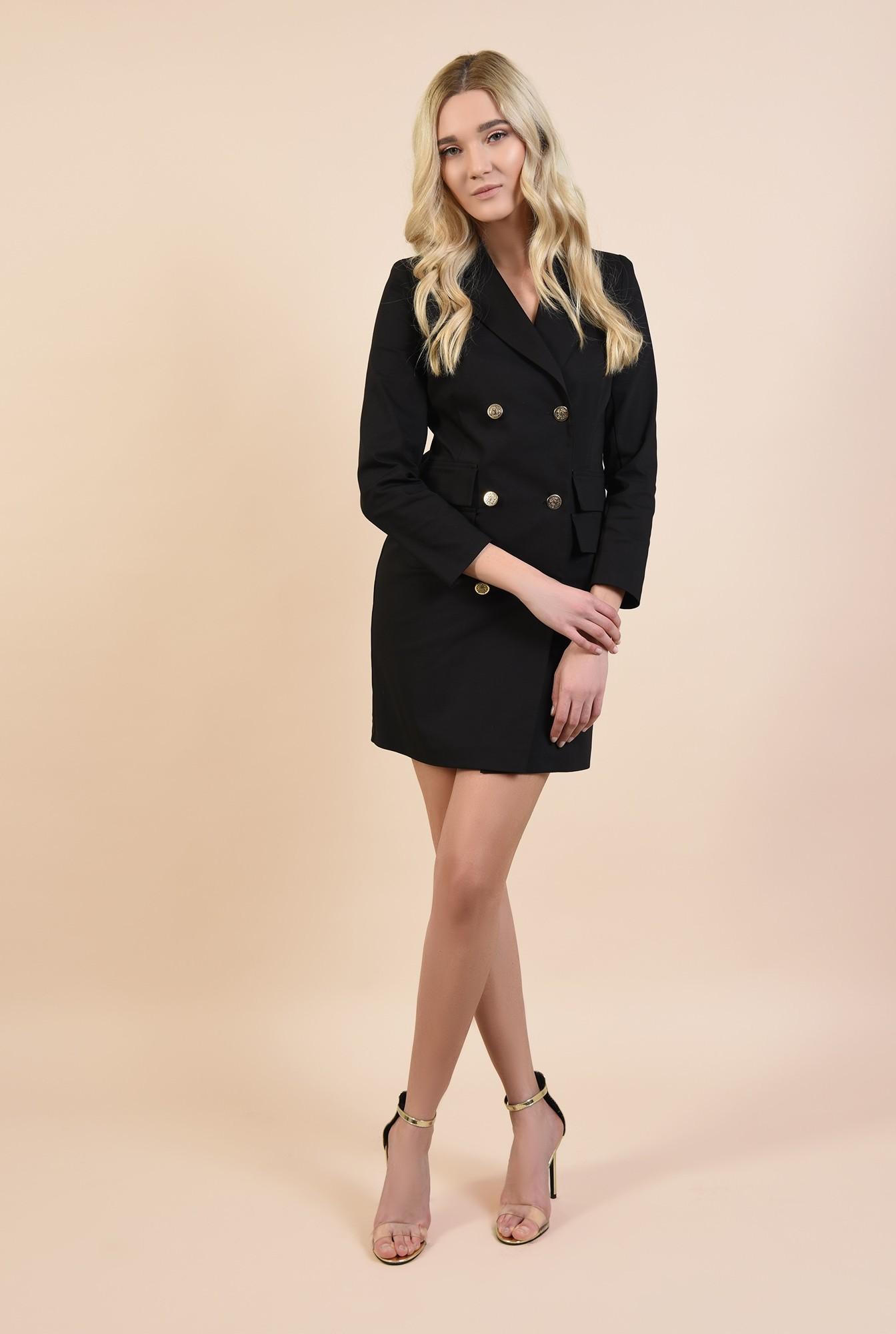 3 - rochie sacou, neagra, scurta, cambrata, rochie de ocazie