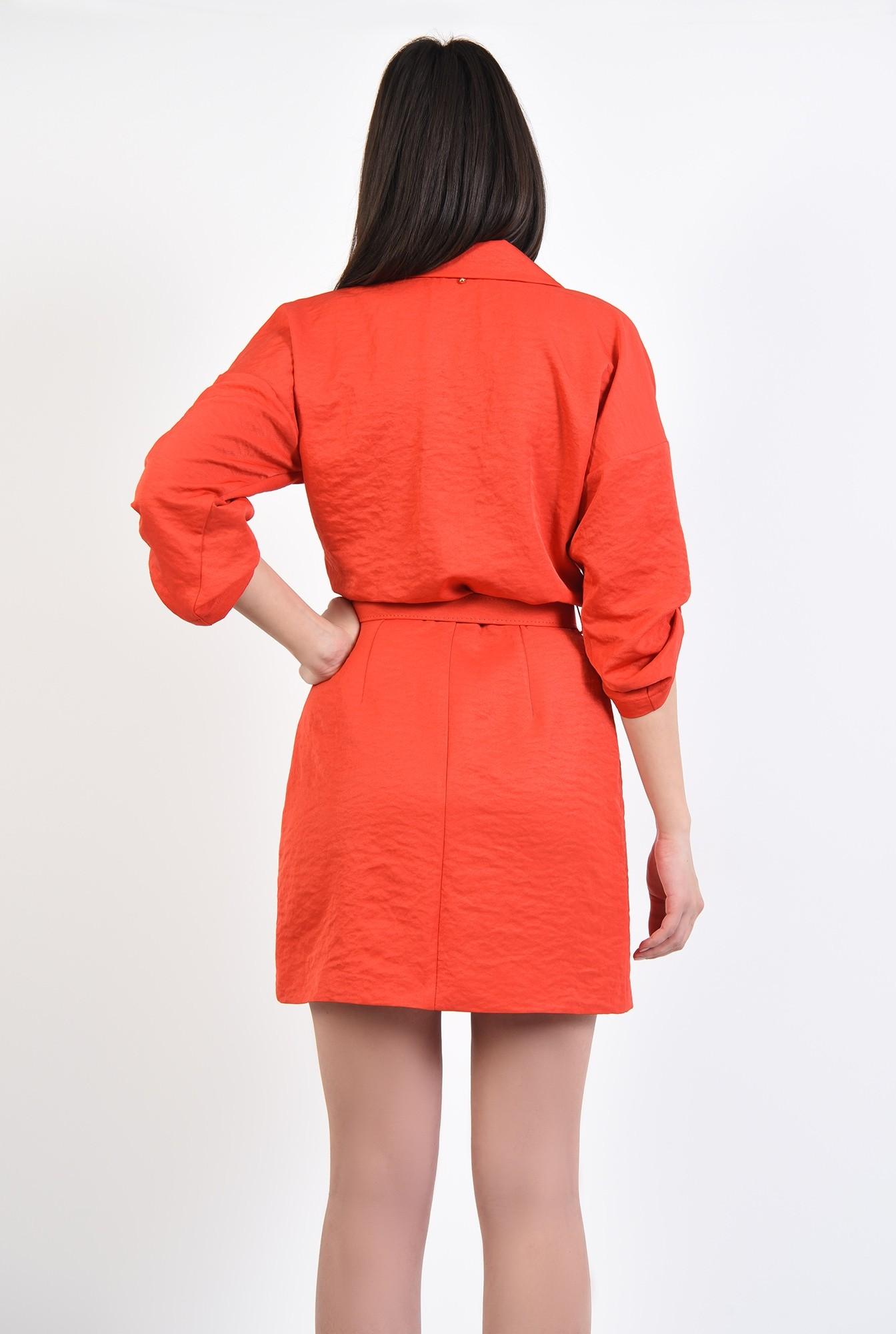 1 - 360 - rochie de zi, mini, croi drept, cambrata cu centura subtire