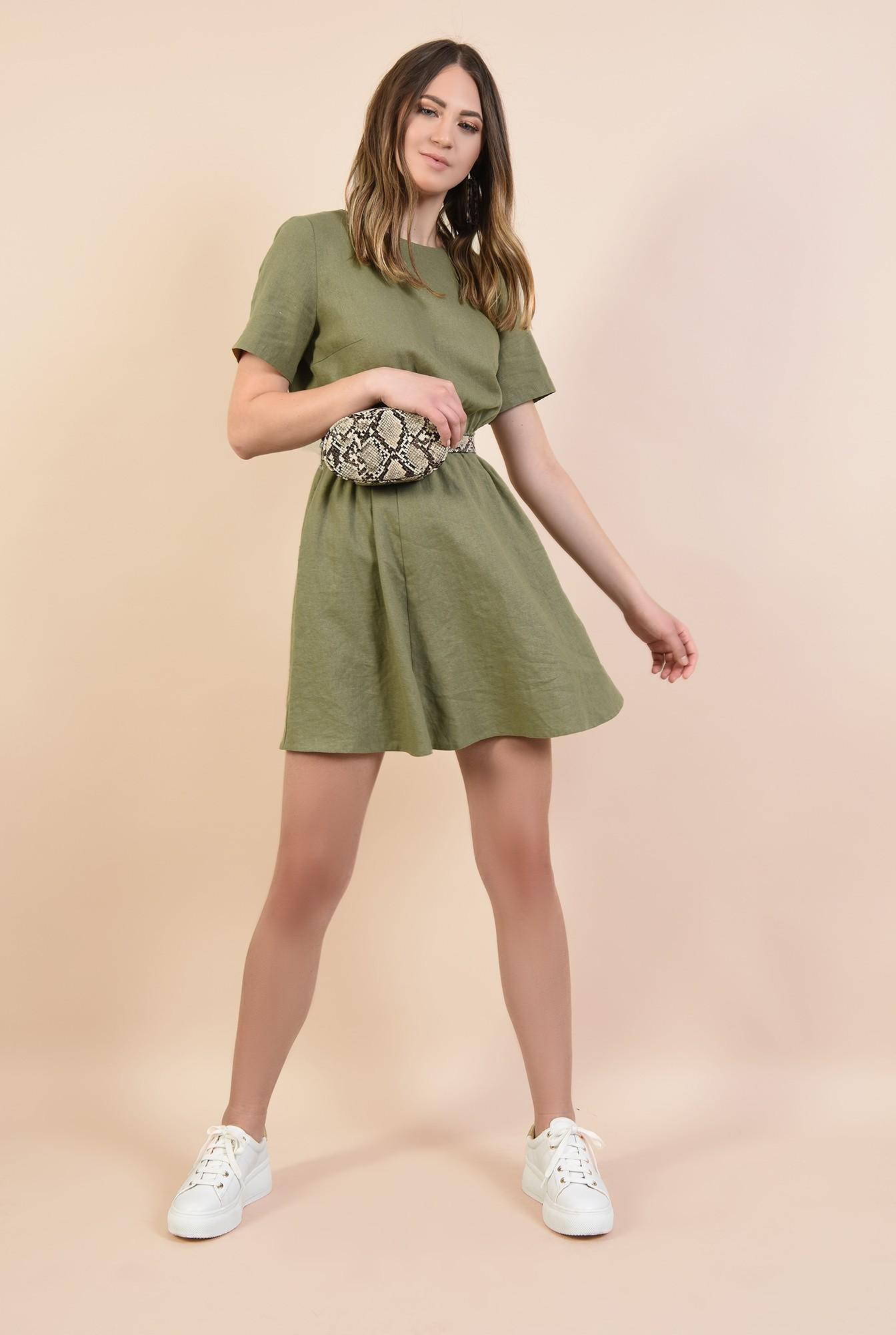 3 - 360 - rochie scurta, croi pe bie, decolteu rotund la baza gatului