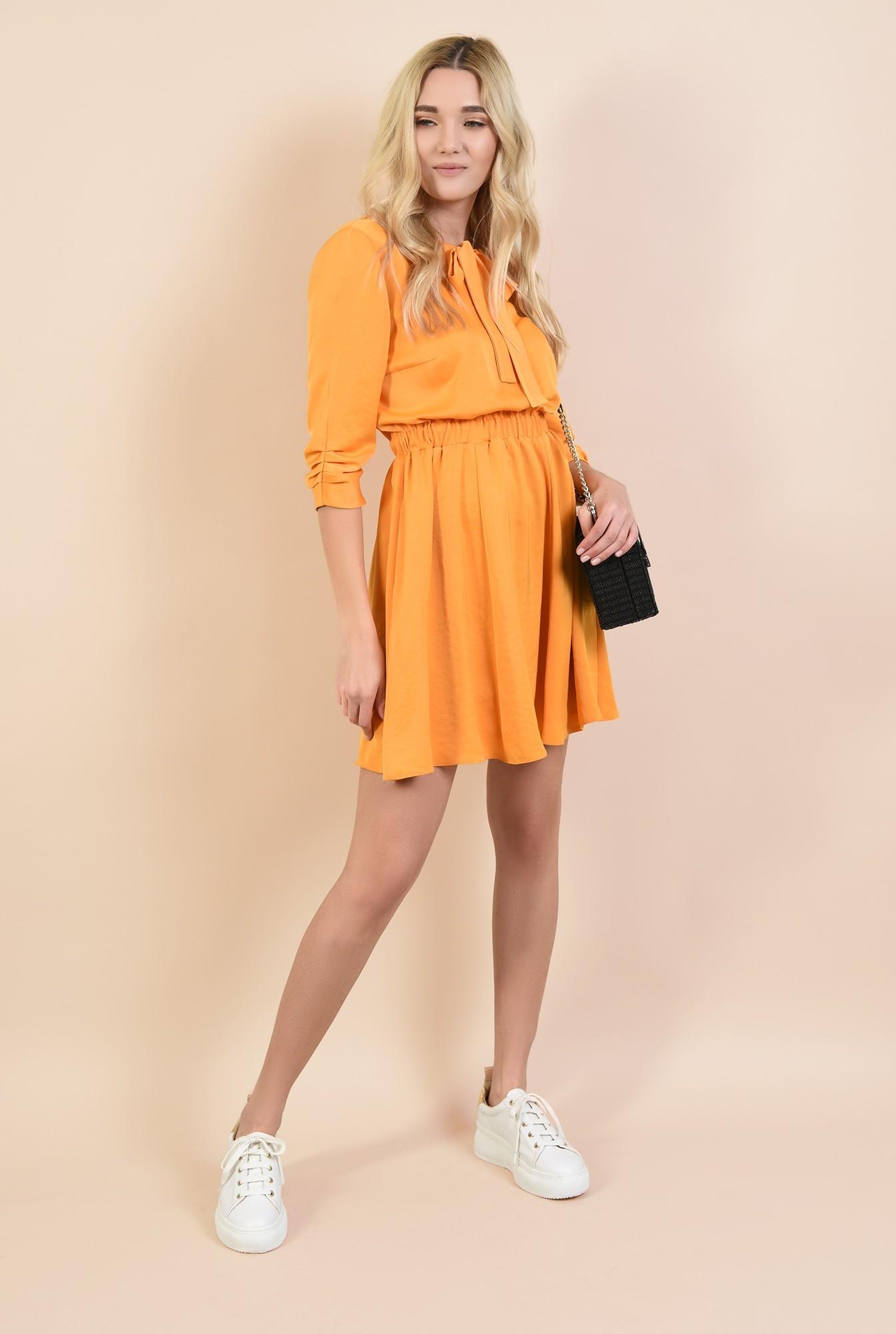 3 - rochii online, rochie mini, evazata, cu elastic la talie