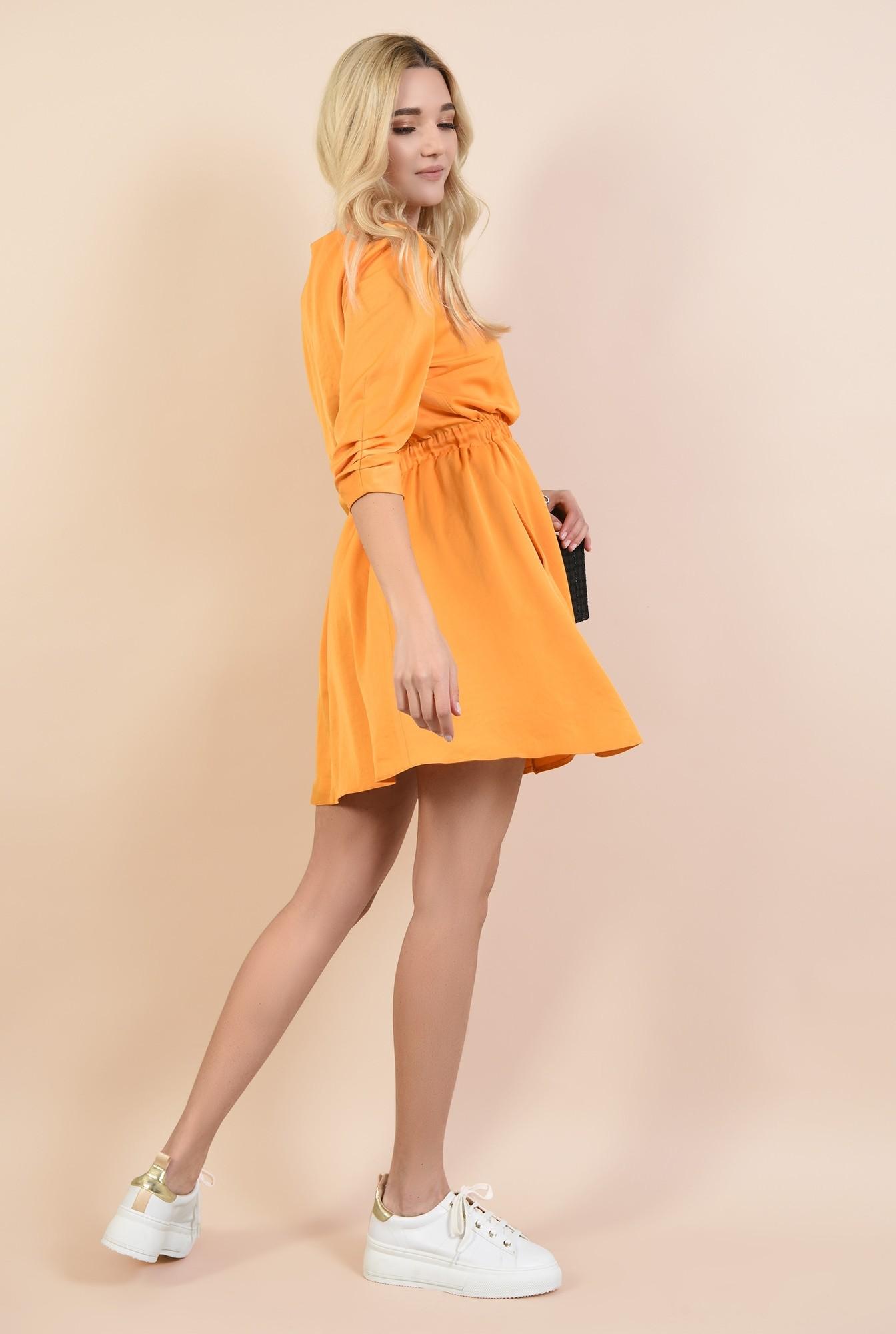 1 - rochii online, rochie mini, evazata, cu elastic la talie