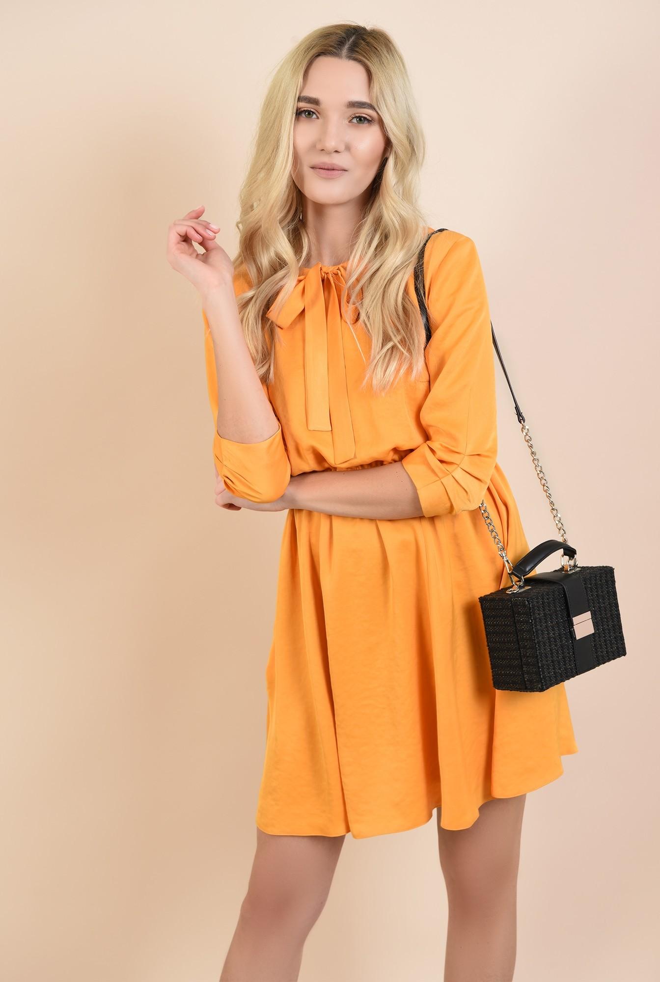 0 - rochii online, rochie mini, evazata, cu elastic la talie
