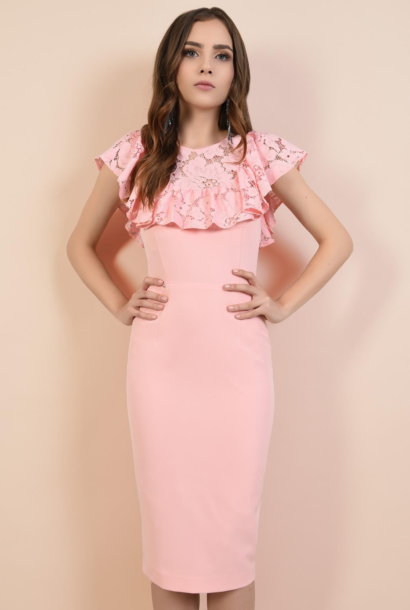 0 - rochii elegante, rochii online, Poema, dantela din bumbac