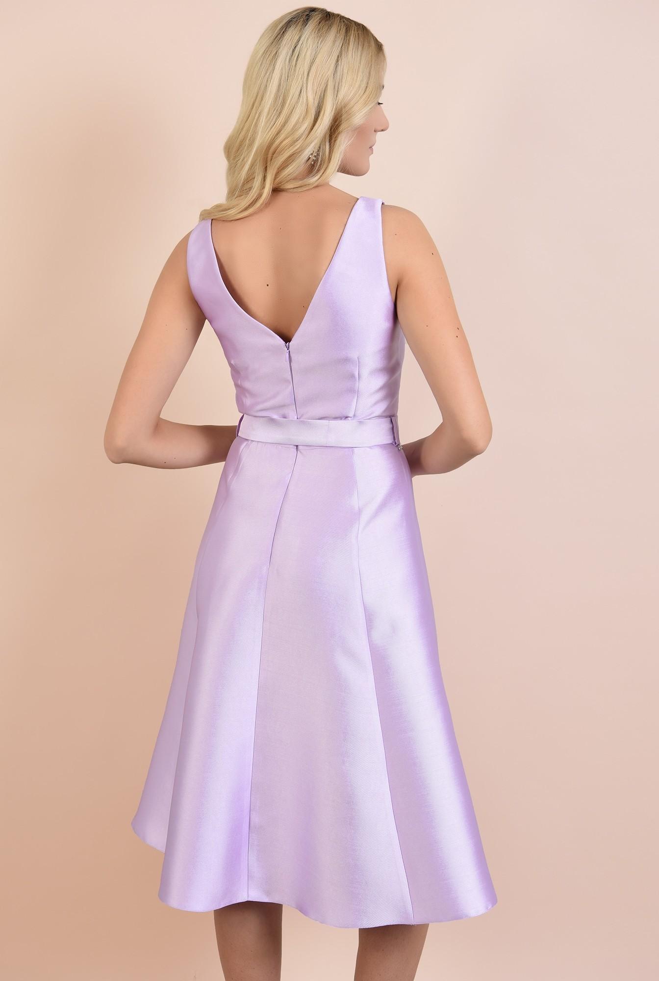 1 - 360 - rochie de ocazie, midi, evazata, din tafta