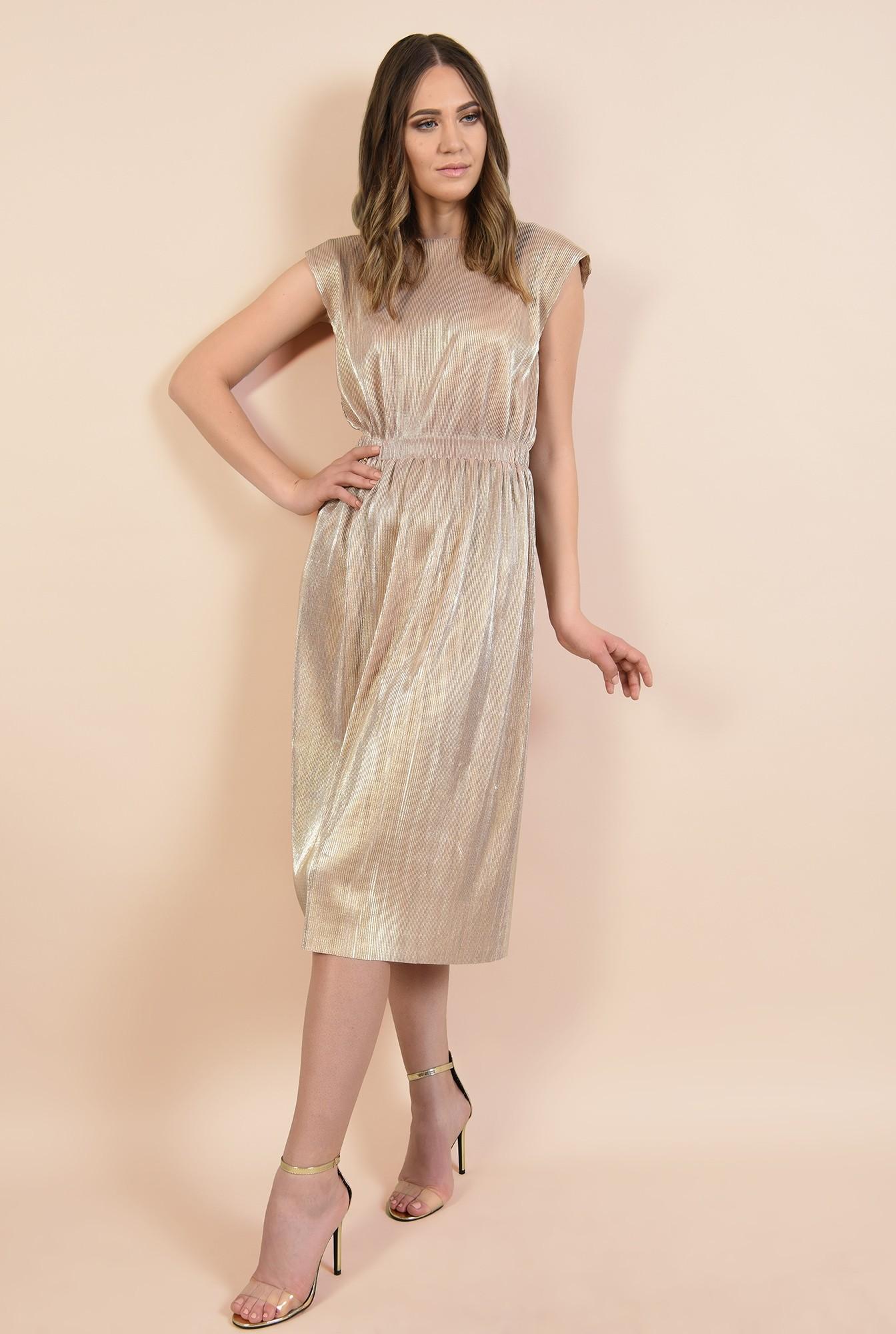 3 - rochie de seara, lungime midi, croi evazat, cambrata, talie pe elastic