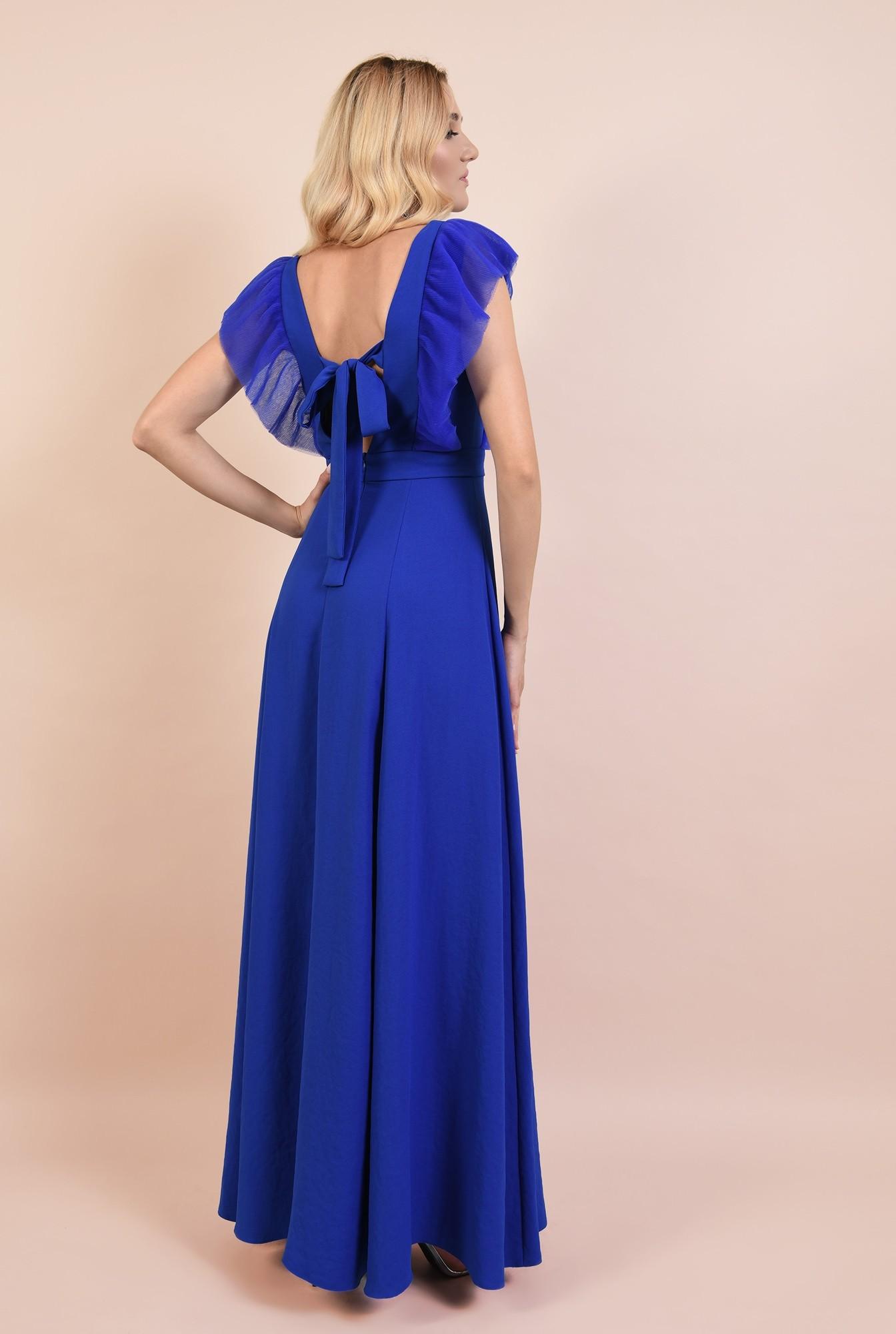 1 - rochie eleganta, lunga, cu anchior, slit, funda la spate