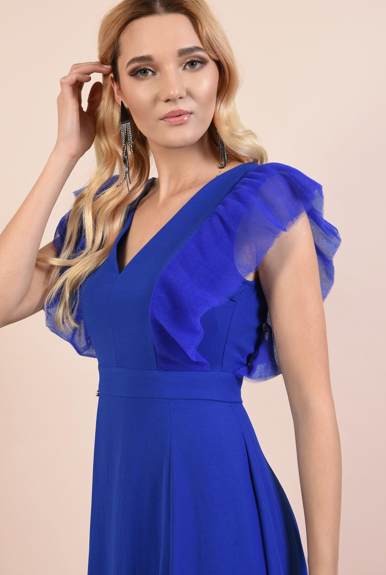 2 - rochie eleganta, lunga, cu anchior, slit, funda la spate