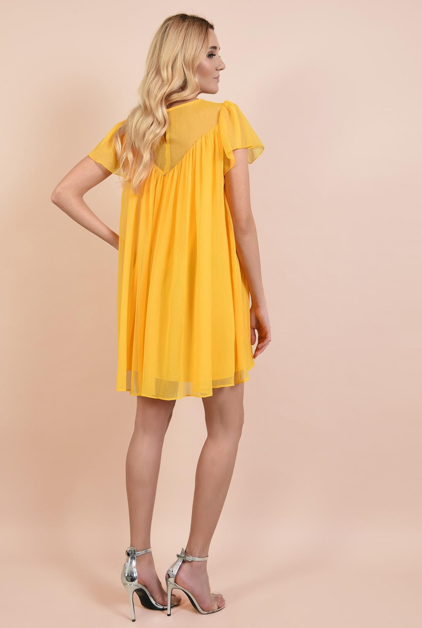 1 - rochie eleganta din voal, rochii online, croi lejer, scurta, maneci evazate