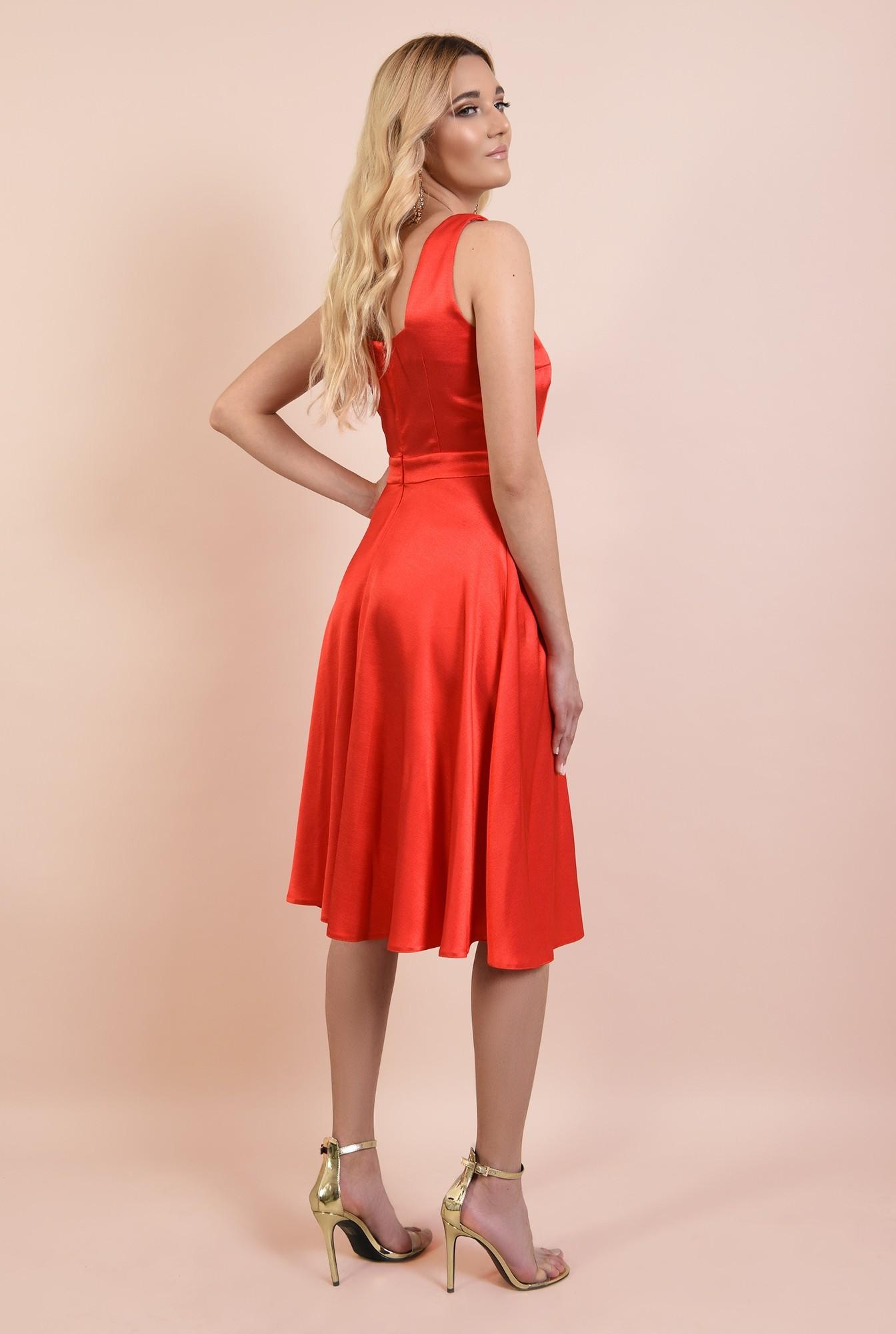1 - rochie de ocazie, Poema, corai, cu bretele, evazata, rochii online