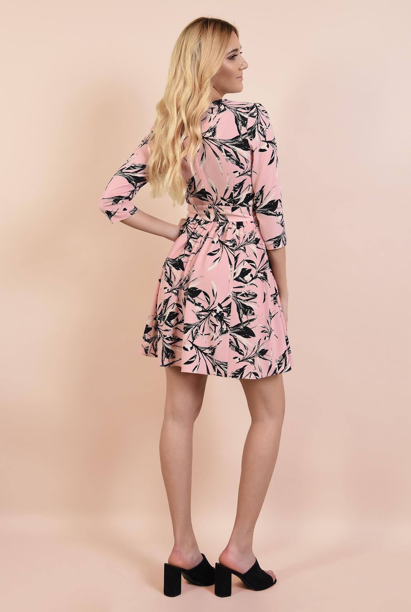 1 - rochie casual, cu flori, Poema, cu cordon, clos, anchior petrecut