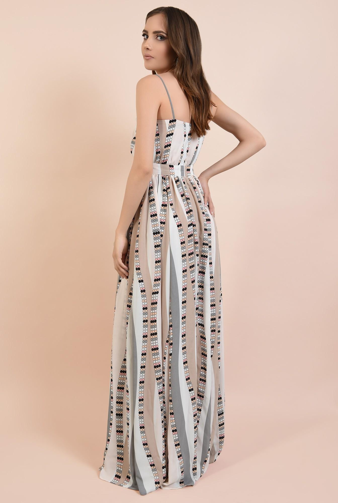 1 - 360 - rochie de ocazie, lunga, cu bretele, croi evazat, talie cu betelie, Poema