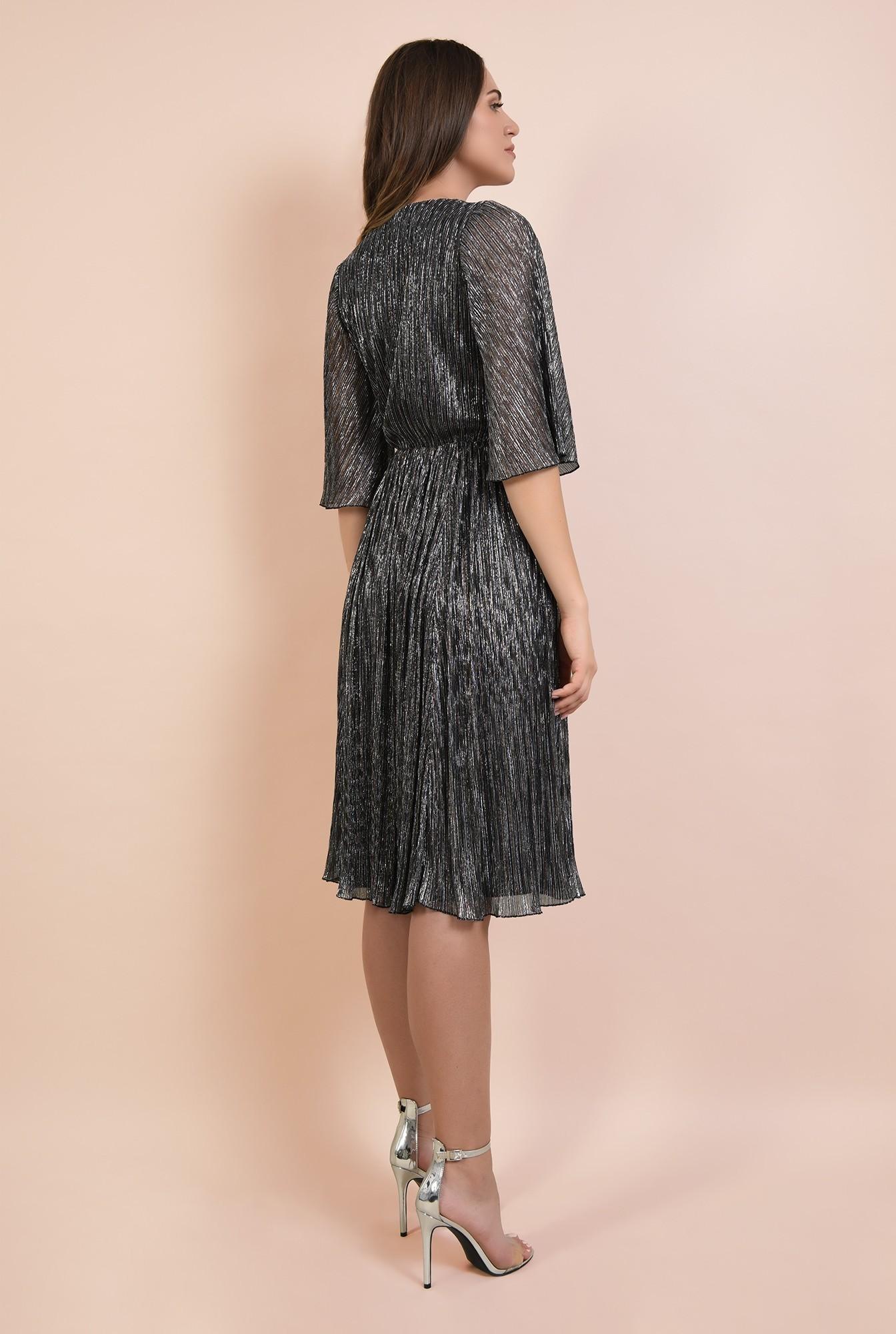 1 - rochie de ocazie, din lurex, fir metalic multicolor, maneci fluture, Poema