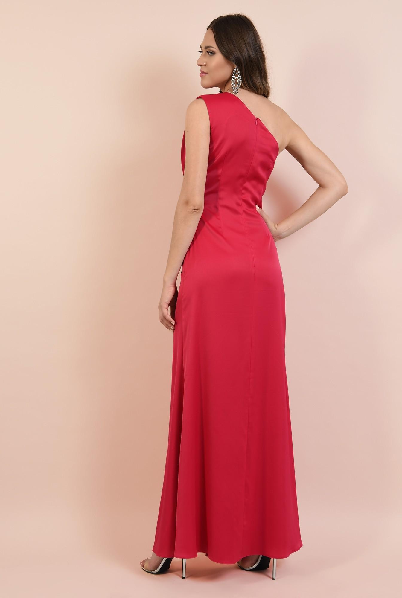 1 - rochie eleganta, lunga, cu slit adanc, cusatura in talie