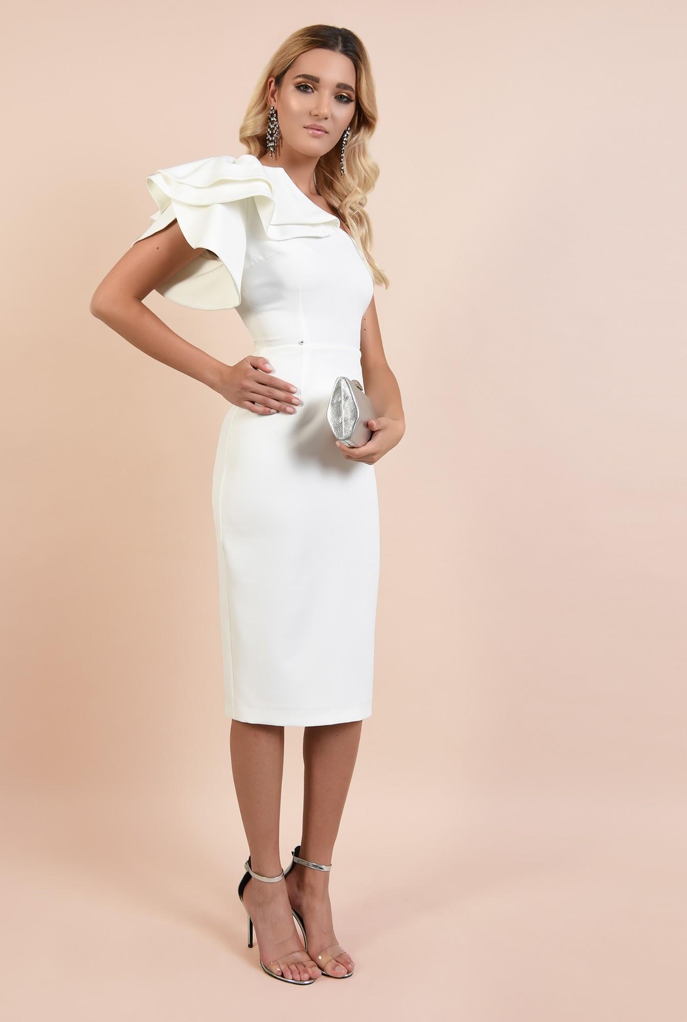 3 - rochie eleganta, midi, conica, umar gol, funde suprapuse, Poema