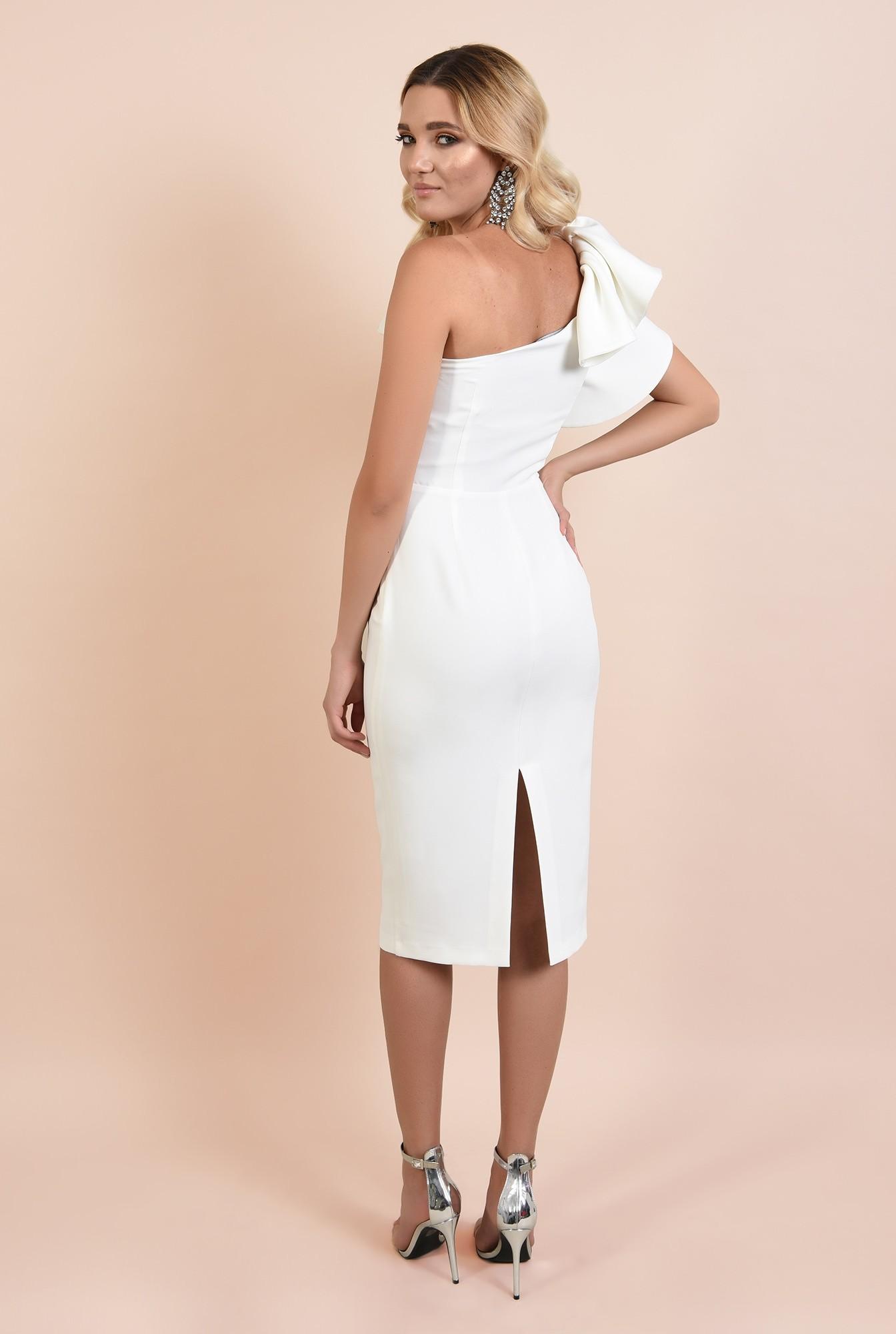 1 - rochie eleganta, midi, conica, umar gol, funde suprapuse, Poema
