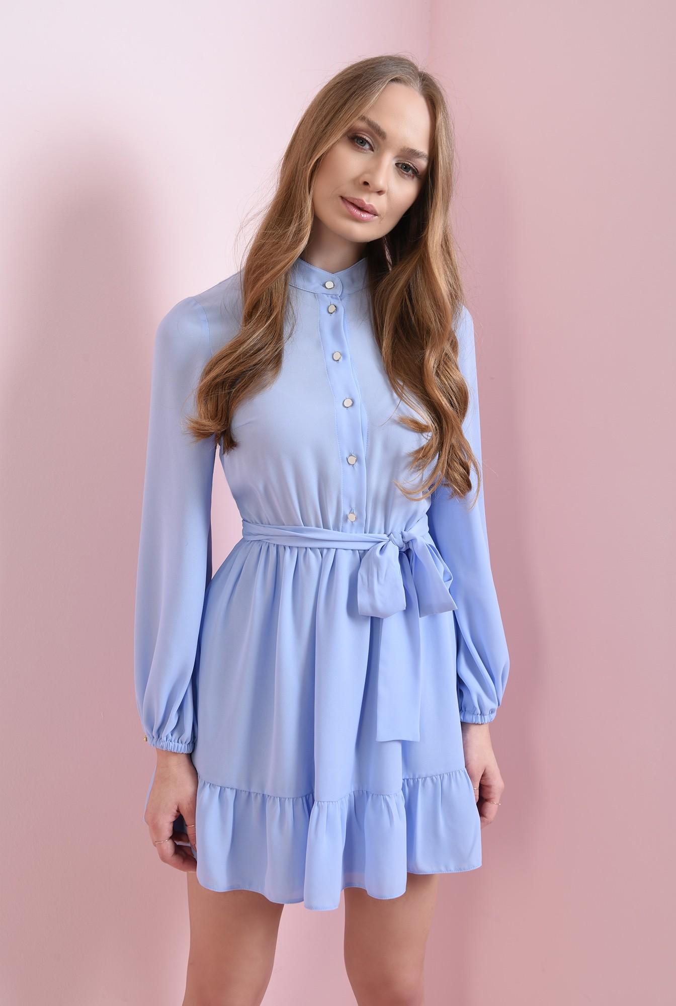 0 - rochie bleu, cu cordon, Poema