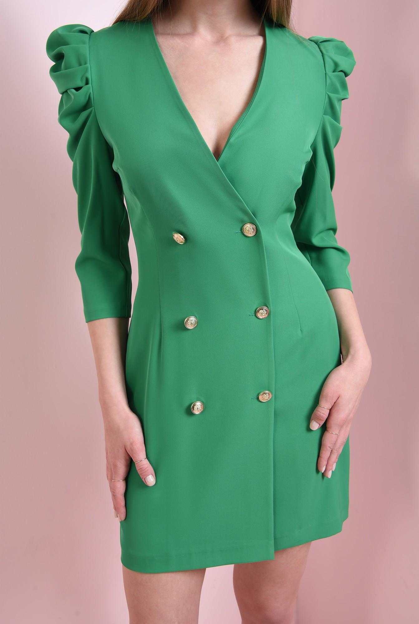 2 - rochie scurta, verde, Poema