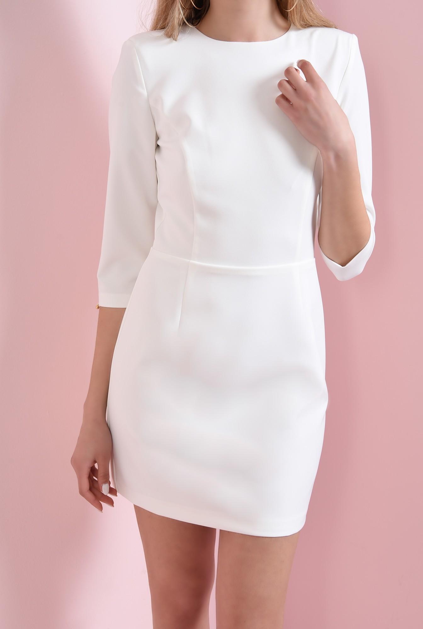 2 - 360 - rochie mini, ivoar, cu decupaj la spate