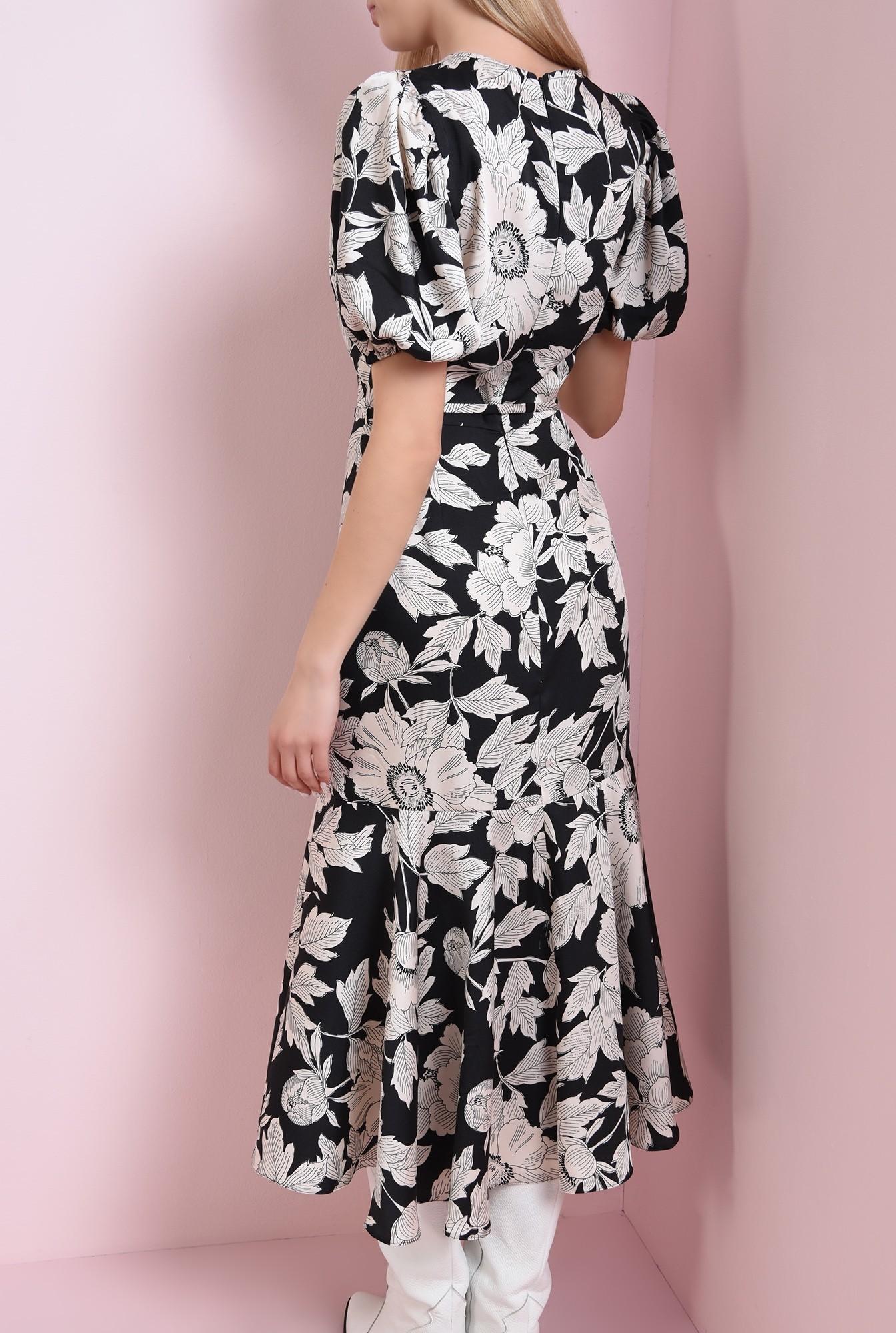 1 - 360 - rochie neagra, cu flori, Poema