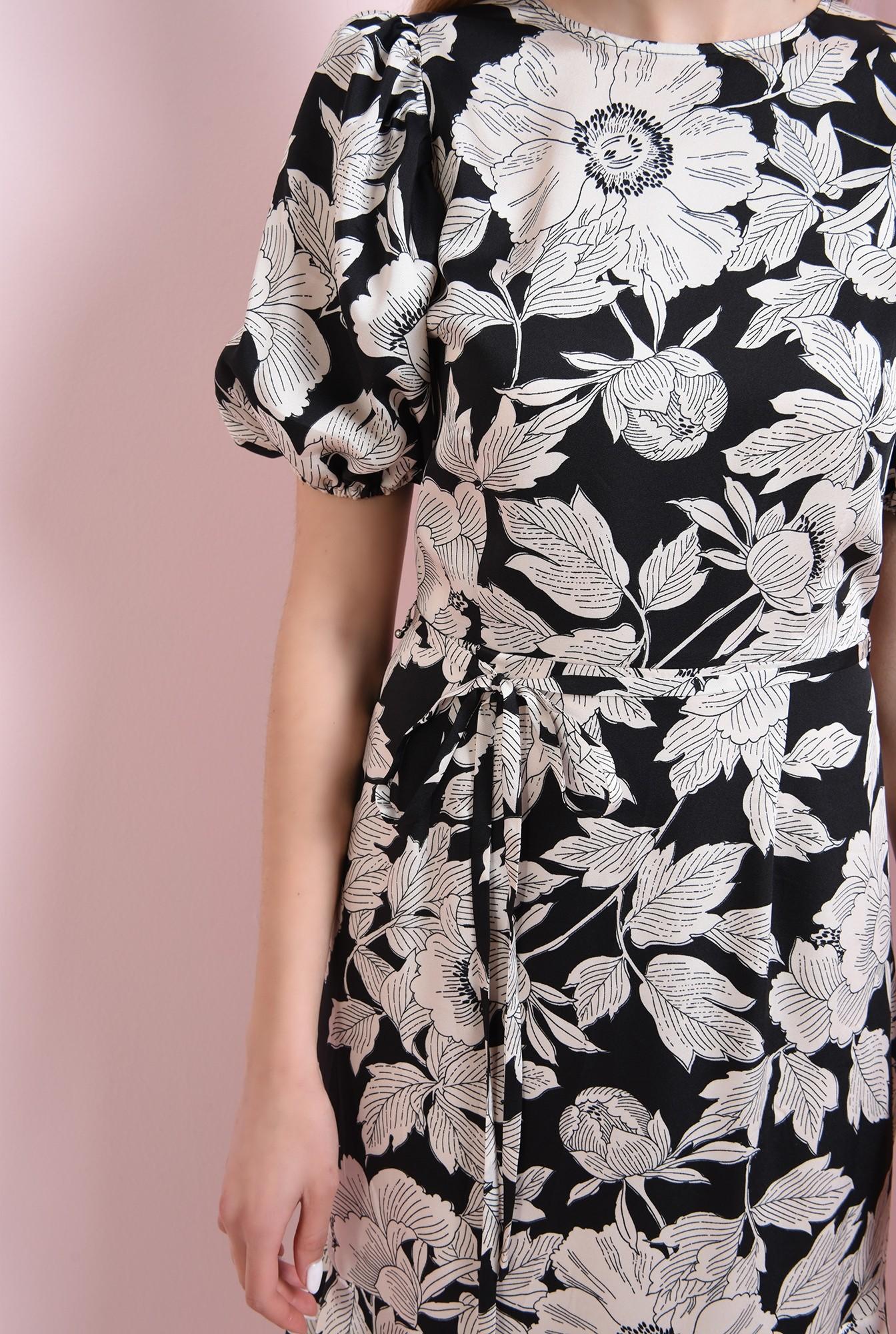3 - 360 - rochie neagra, cu flori, Poema