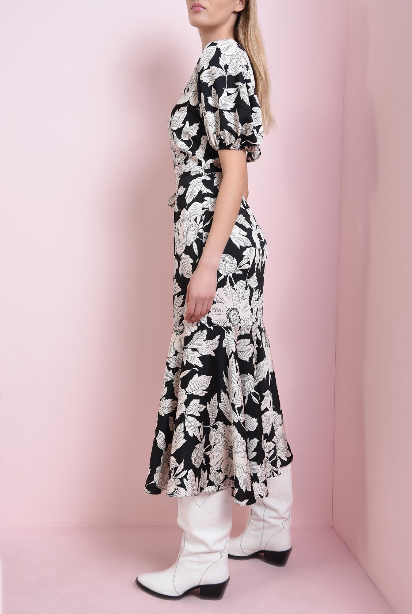 2 - 360 - rochie neagra, cu flori, Poema