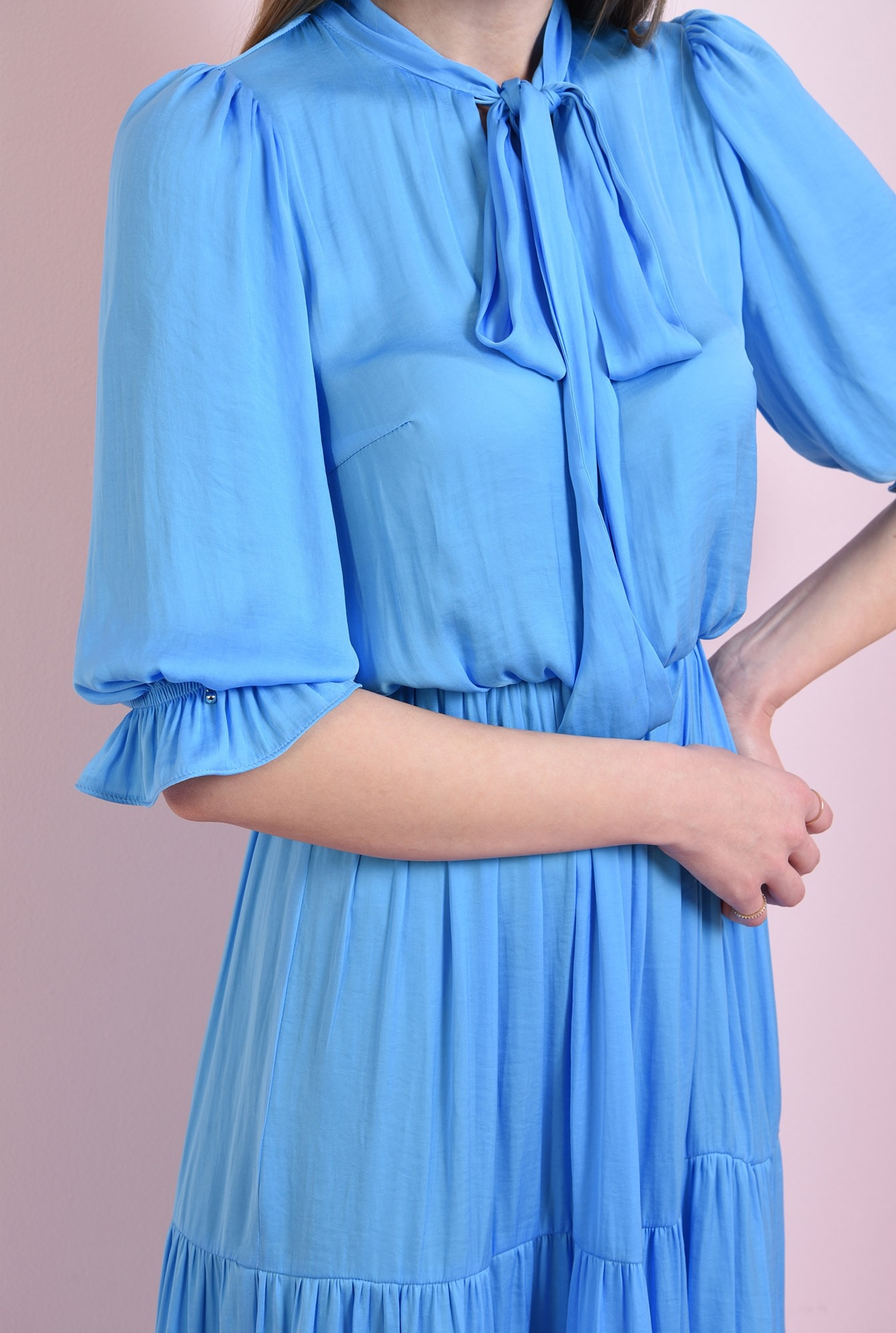 2 - rochie evazata, bleu, Poema