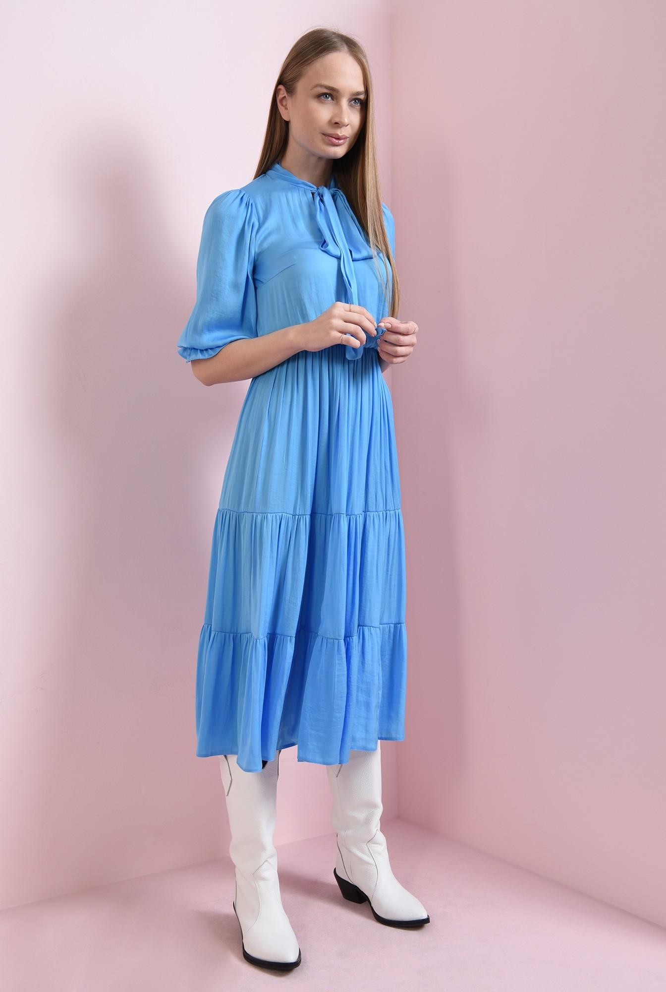 0 - rochie evazata, bleu, Poema