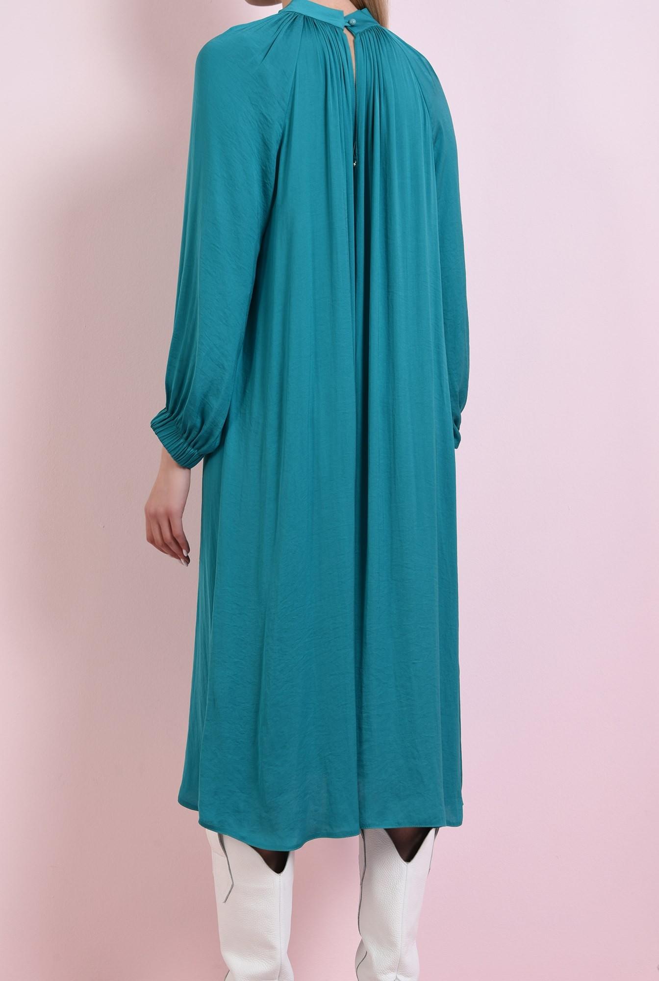 2 - 360 - rochie midi, verde, din satin