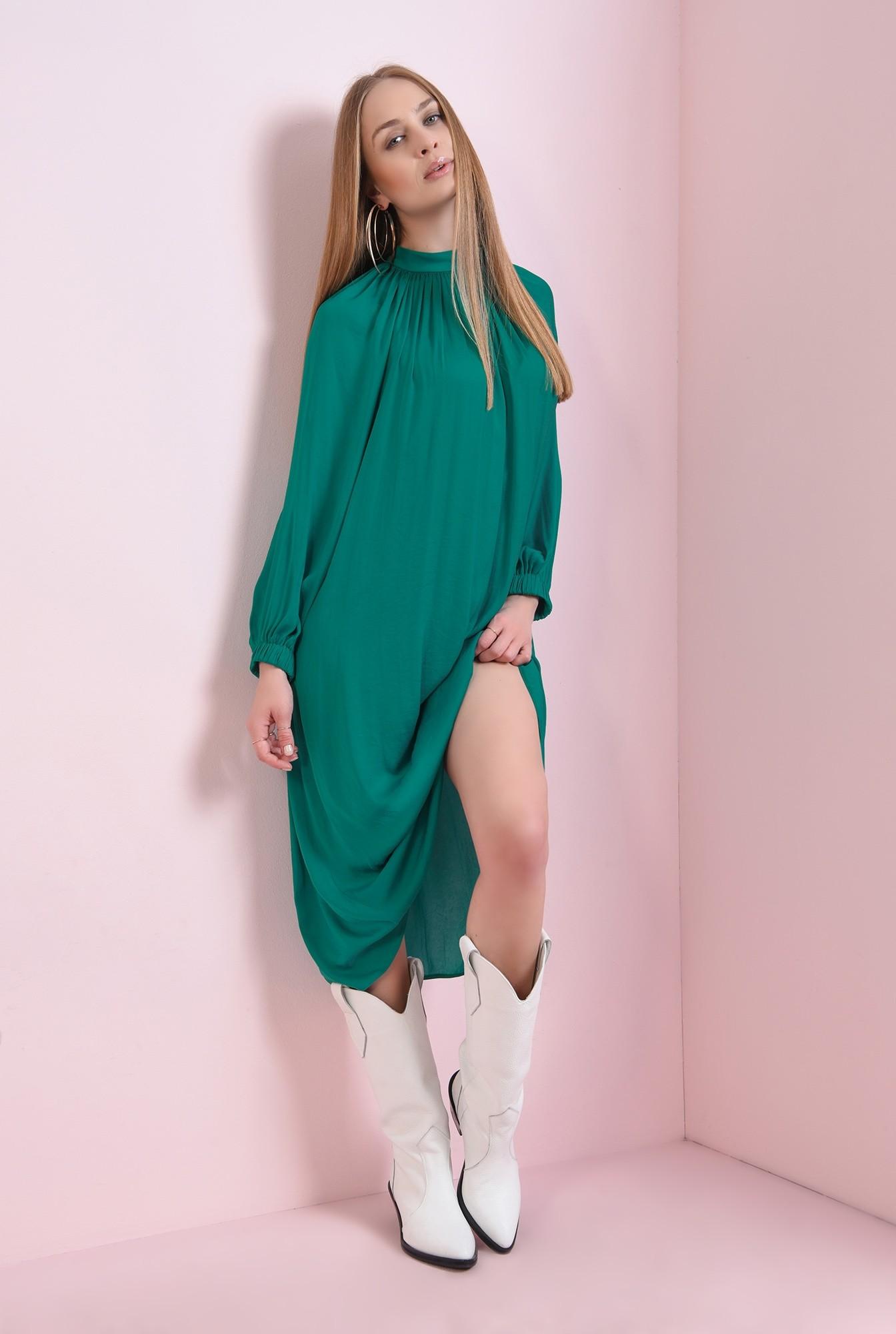 1 - rochie verde, din satin, Poema