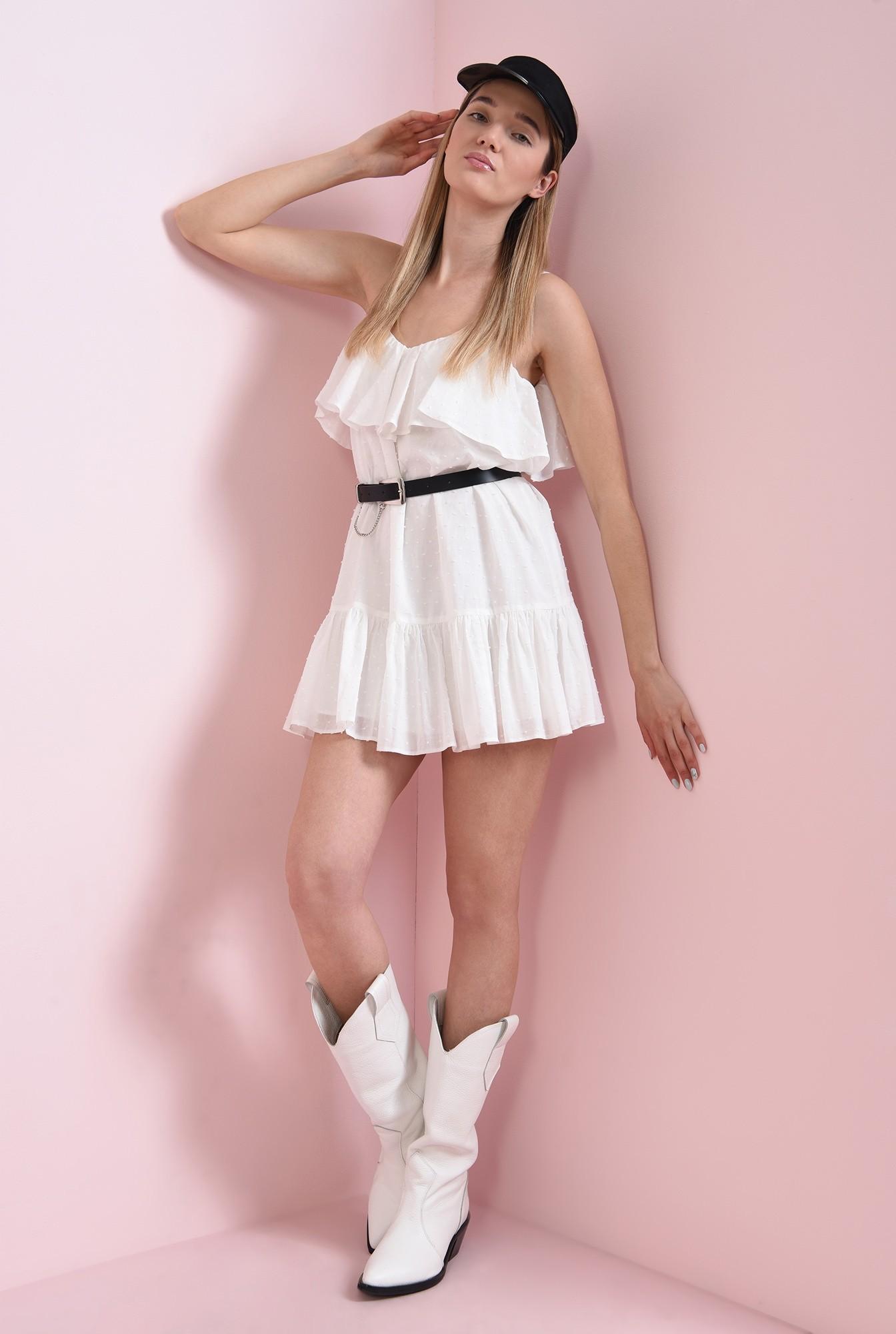 1 - rochie din bumbac, cu bretele subtiri