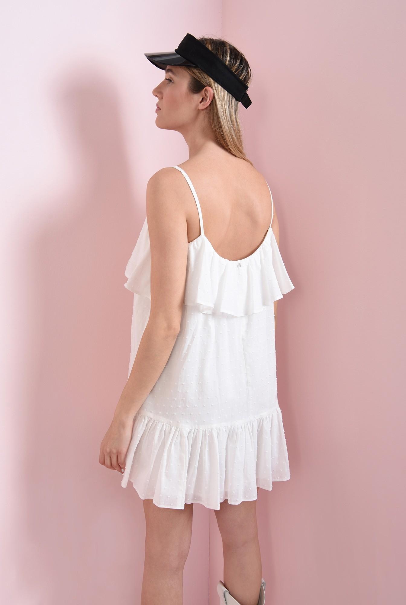 3 - rochie din bumbac, cu bretele subtiri