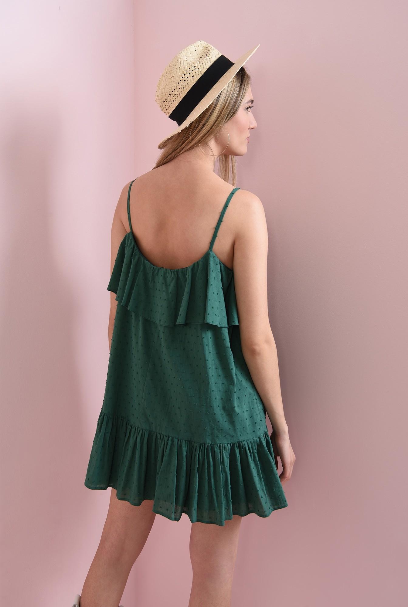 2 - rochie din bumbac, cu plumeti
