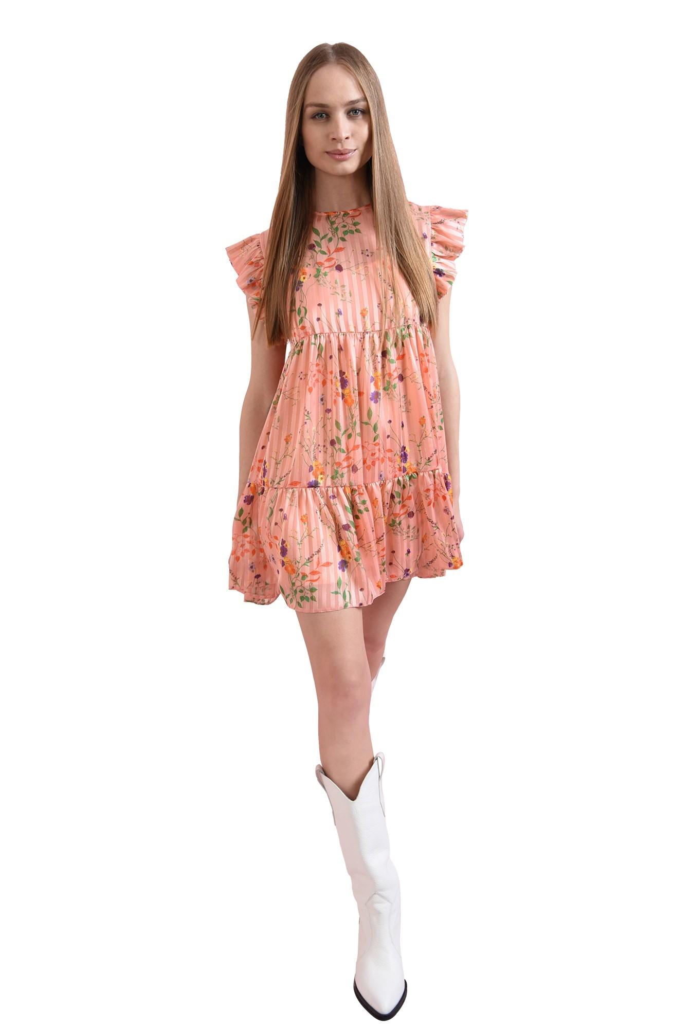 3 - rochie mini, evazata, roz, Poema